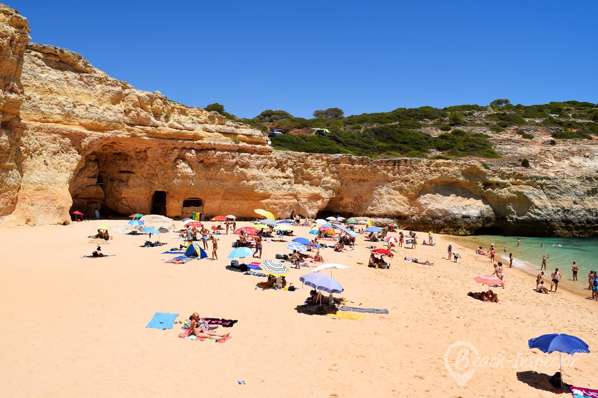 Beach Praia Do Carvalho, Algarve, Portugal