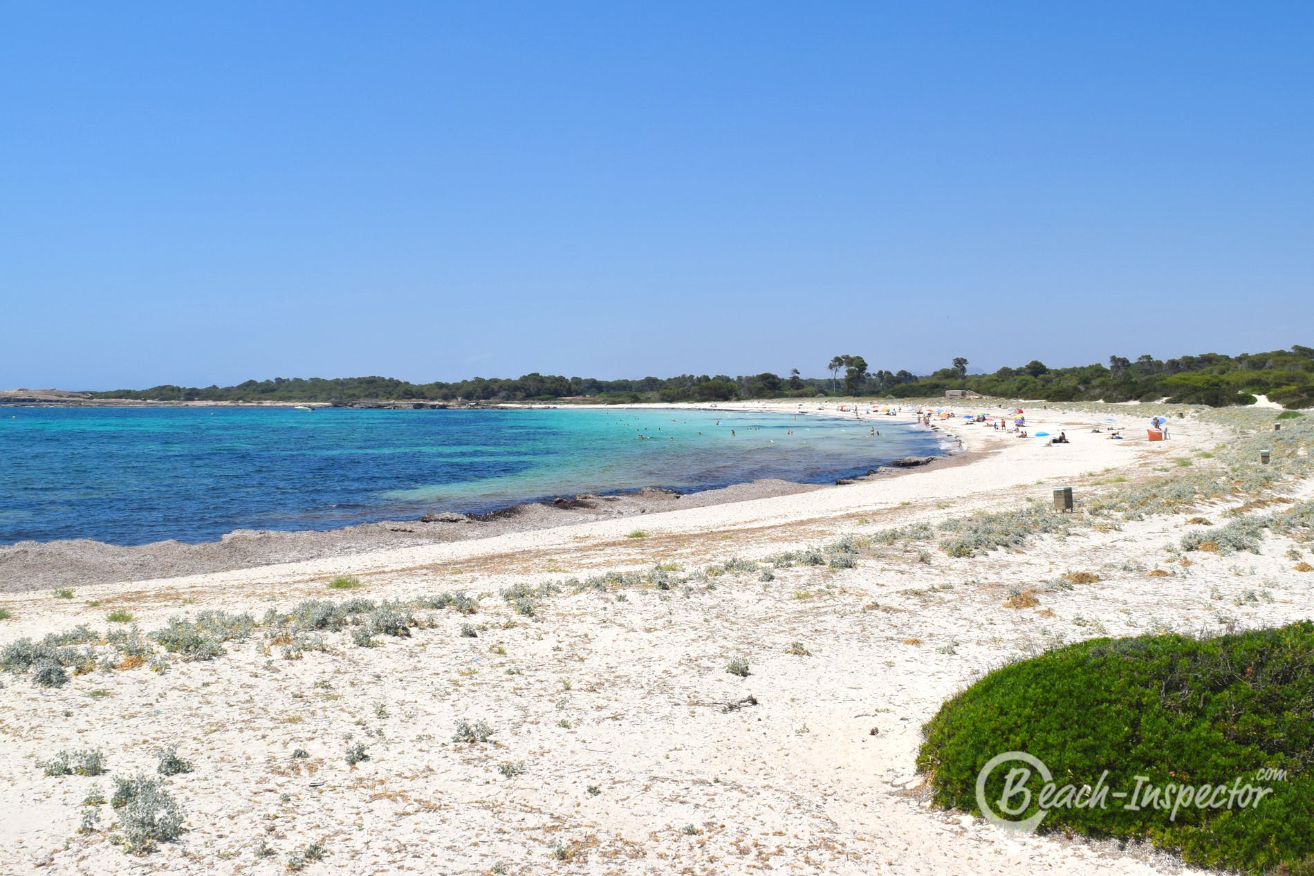 Beach Playa del Caragol, Majorca, Spain