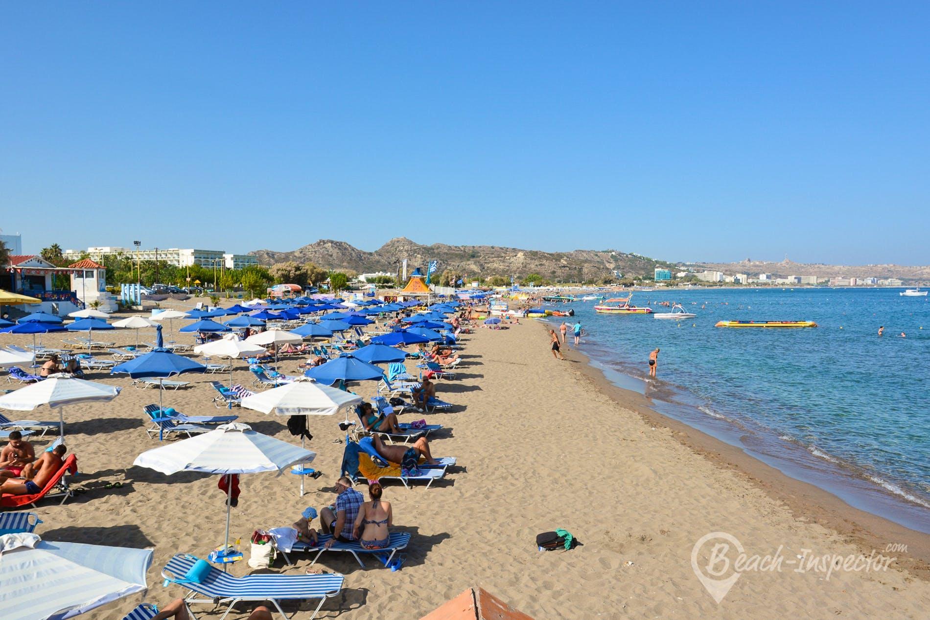 Beach Faliraki Beach, Rhodes, Greece