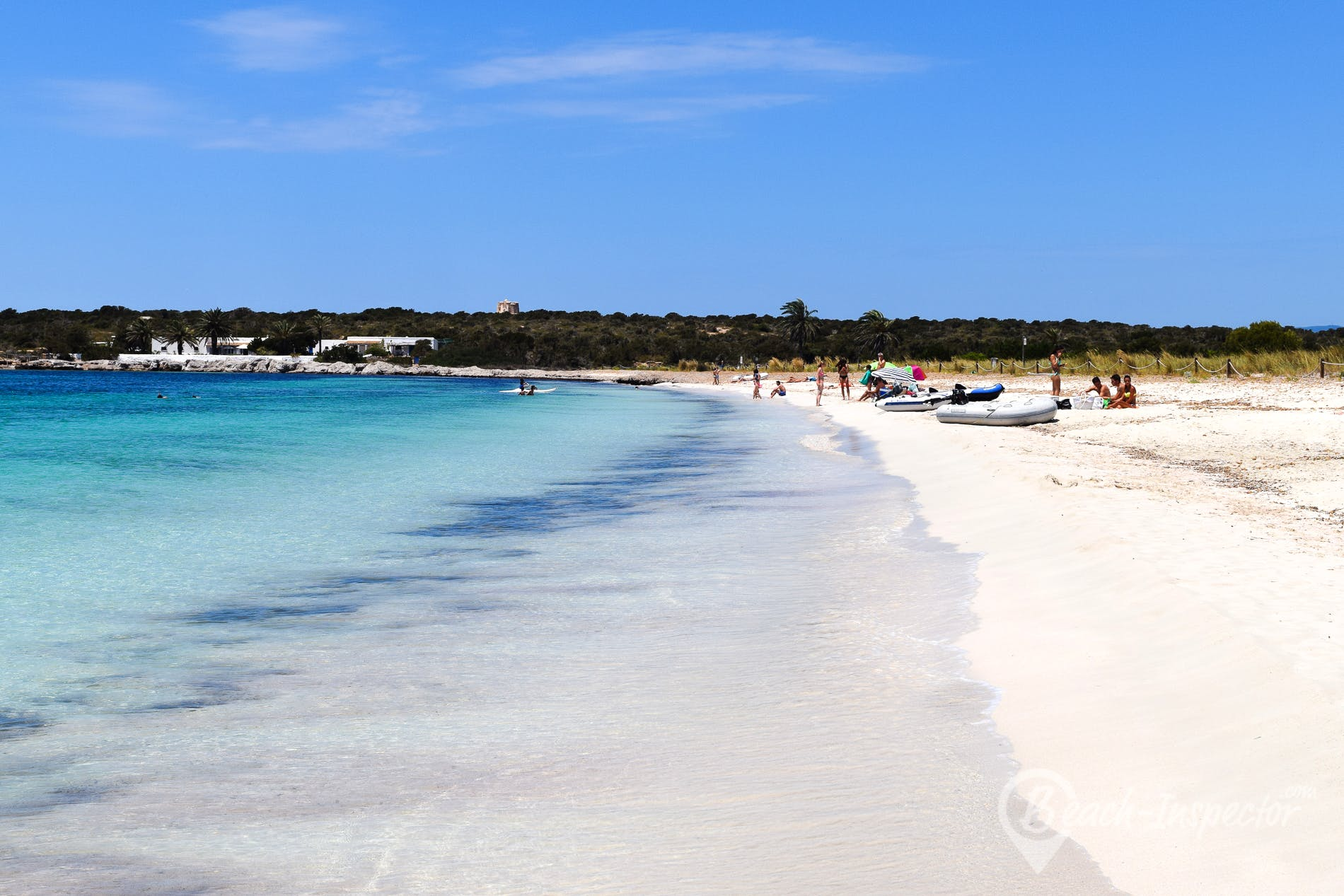 Strand Playa de Espalmador, Formentera, Spanien