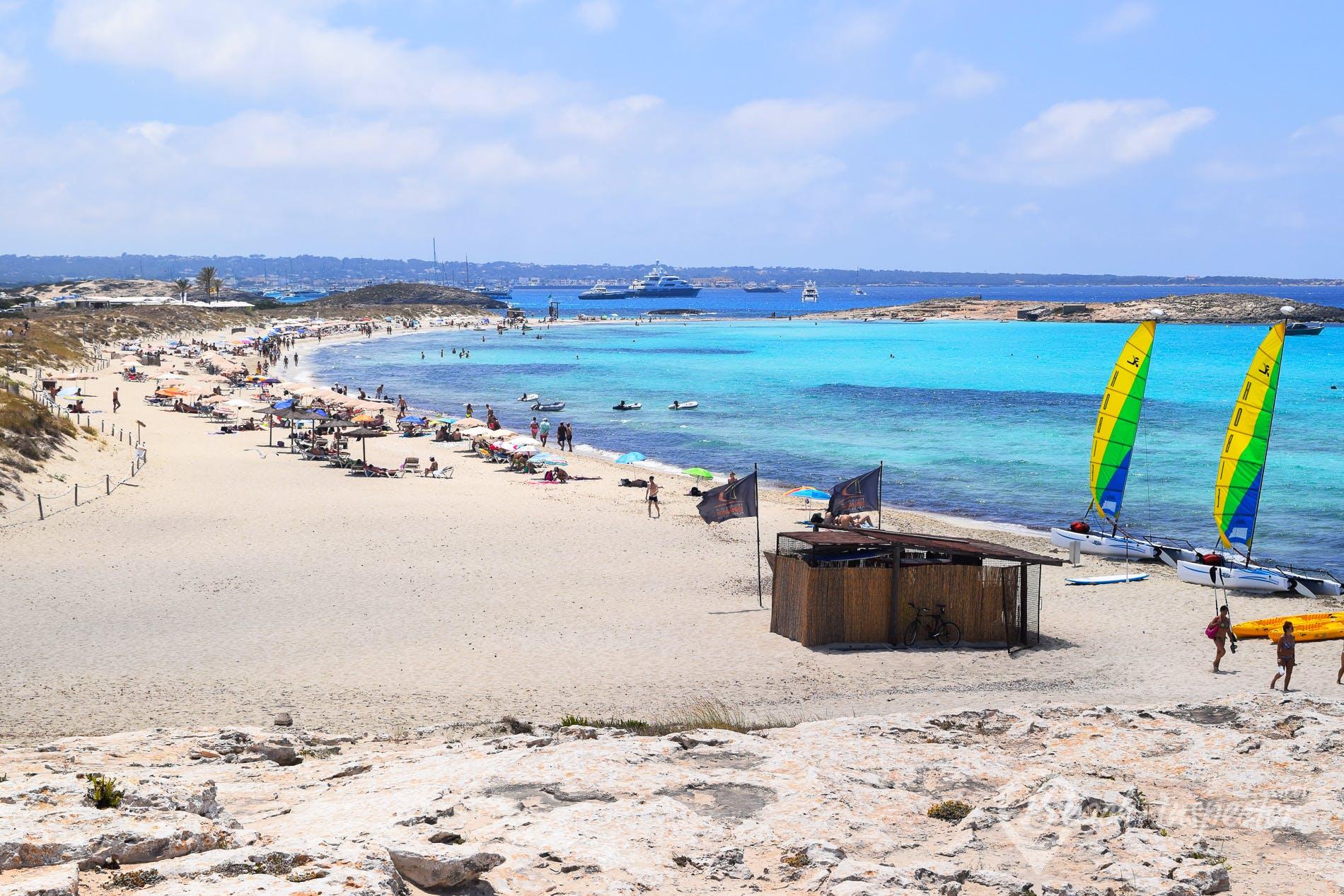 Strand Playa de ses Illetes, Formentera, Spanien