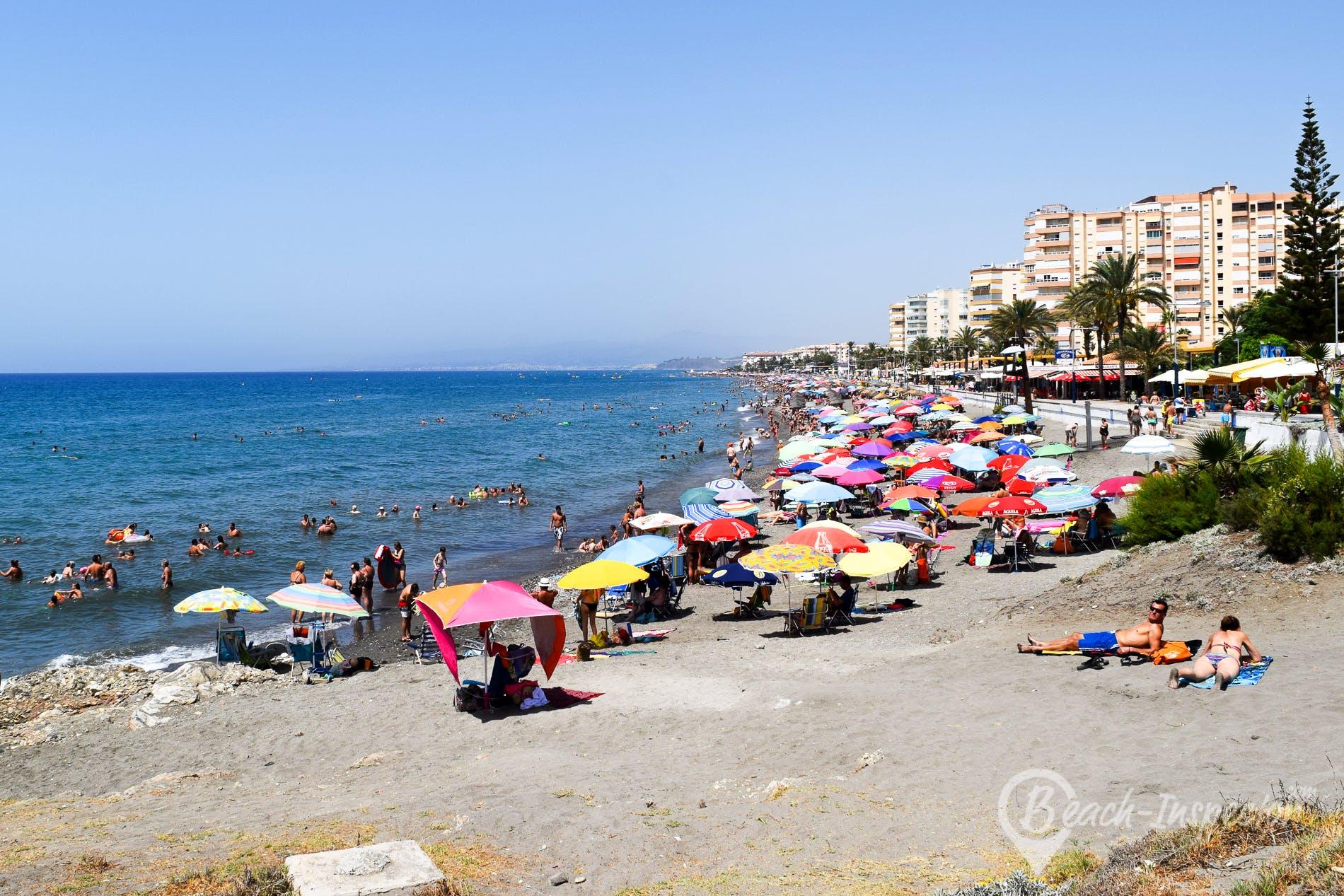 Beach Playa de Ferrara, Costa del Sol, Spain