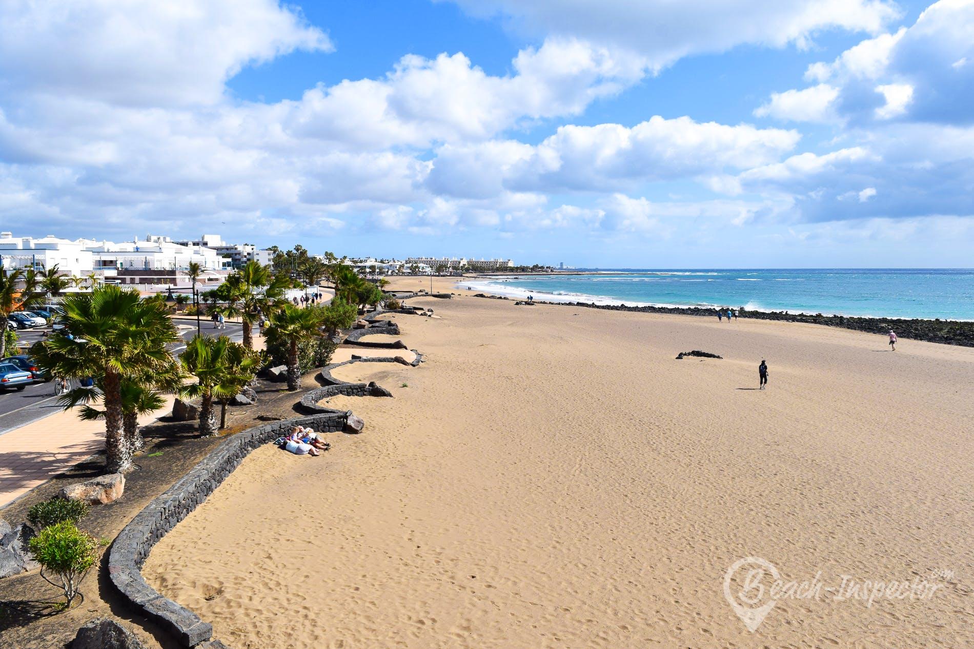 Strand Playa de Matagorda, Lanzarote, Spanien