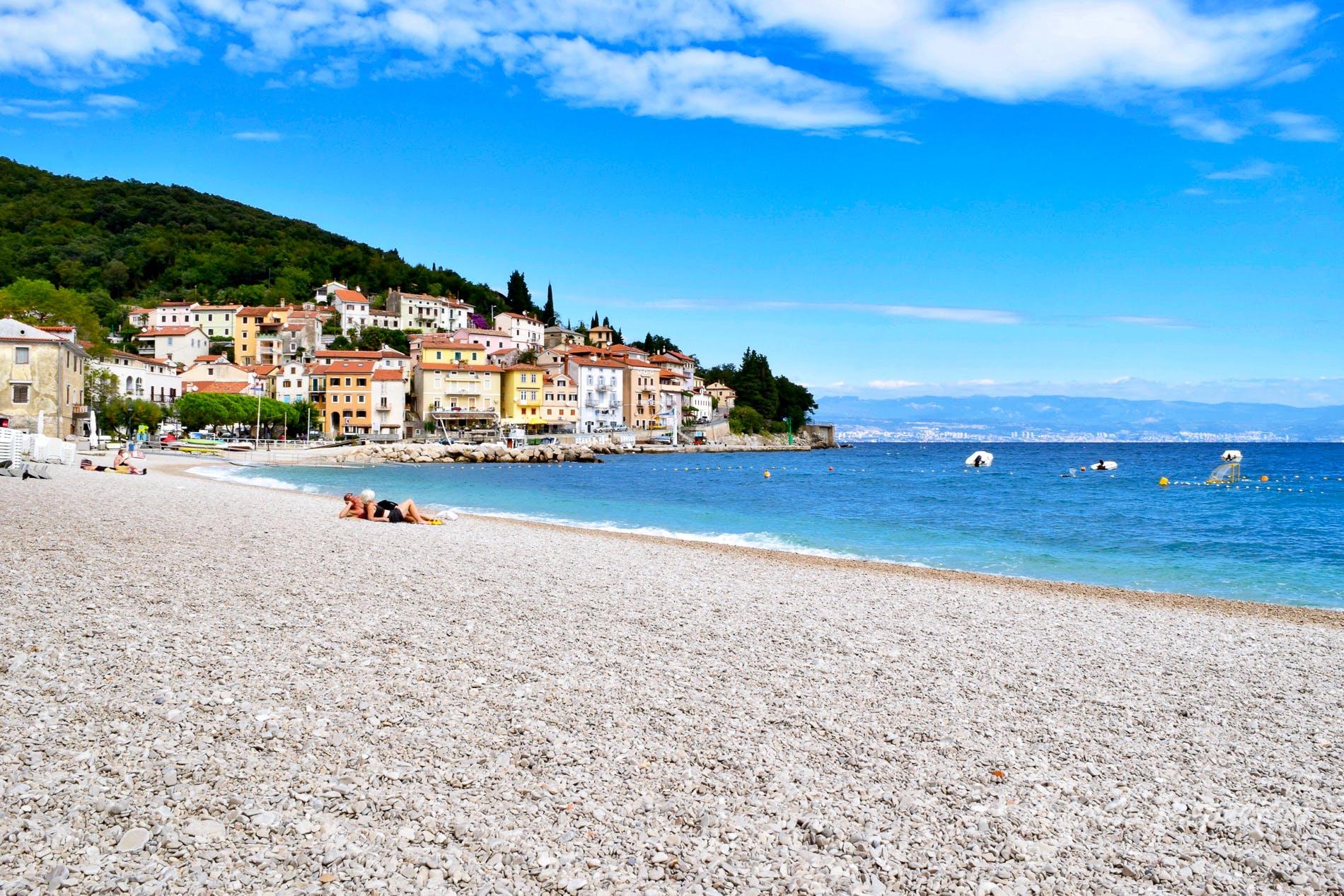 Strand Sipar, Istrien, Kroatien
