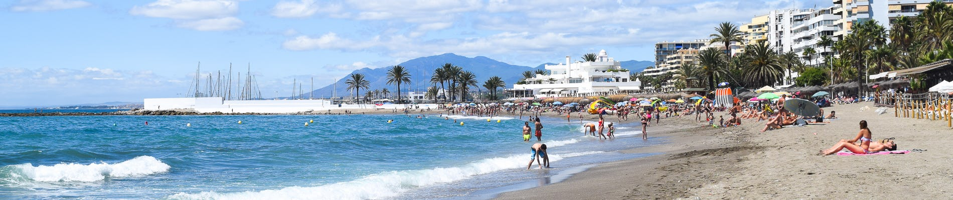 Playa De La Venus A Sandy Beach In The City Centre With Long Promenade