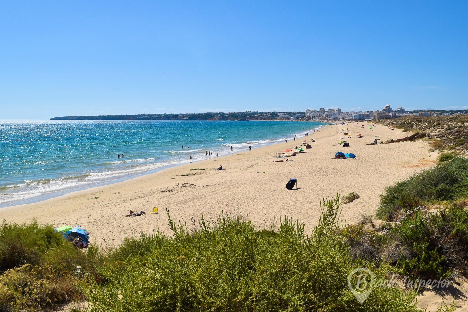 Strand Praia Grande, Algarve, Portugal