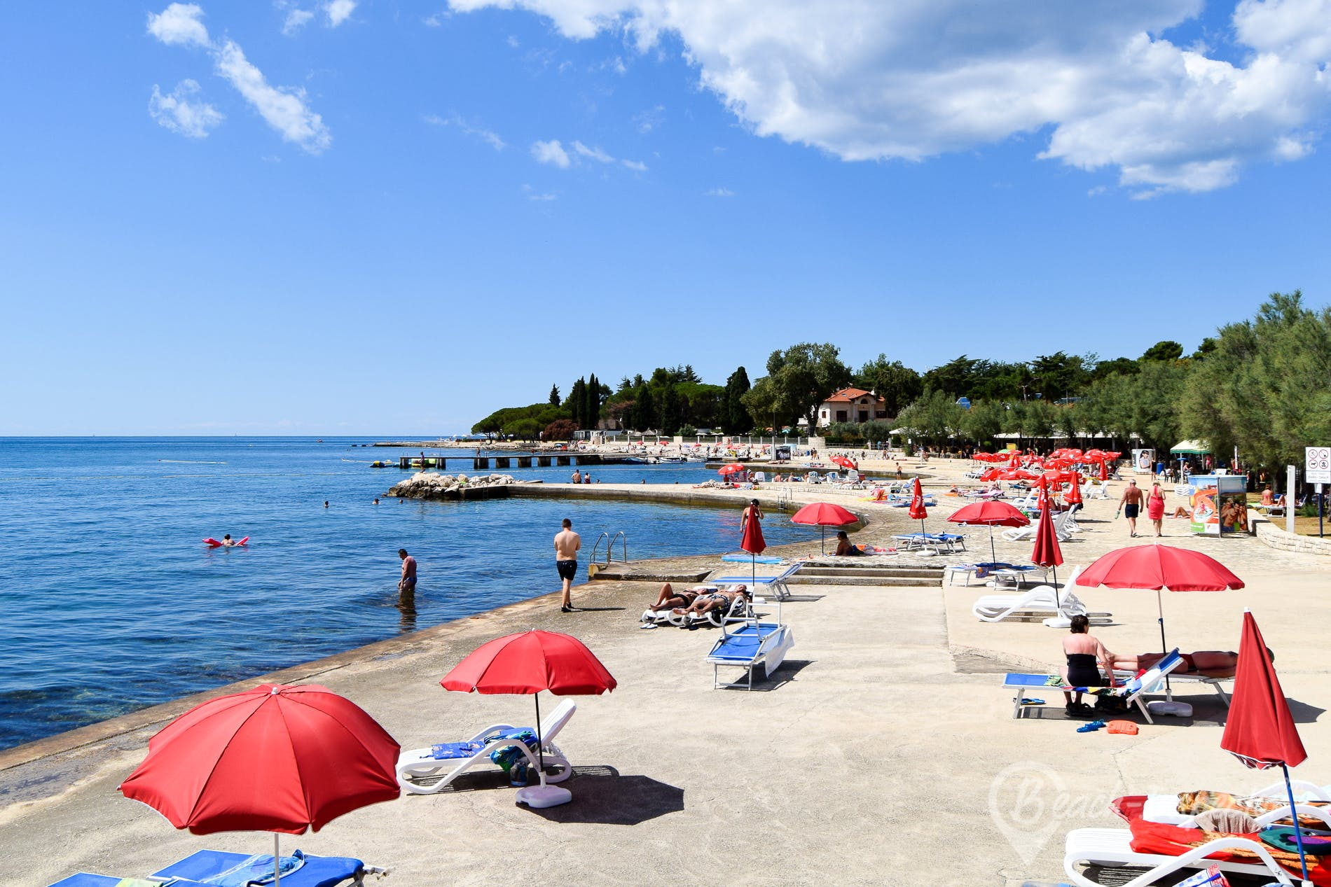 Strand Materada, Istrien, Kroatien