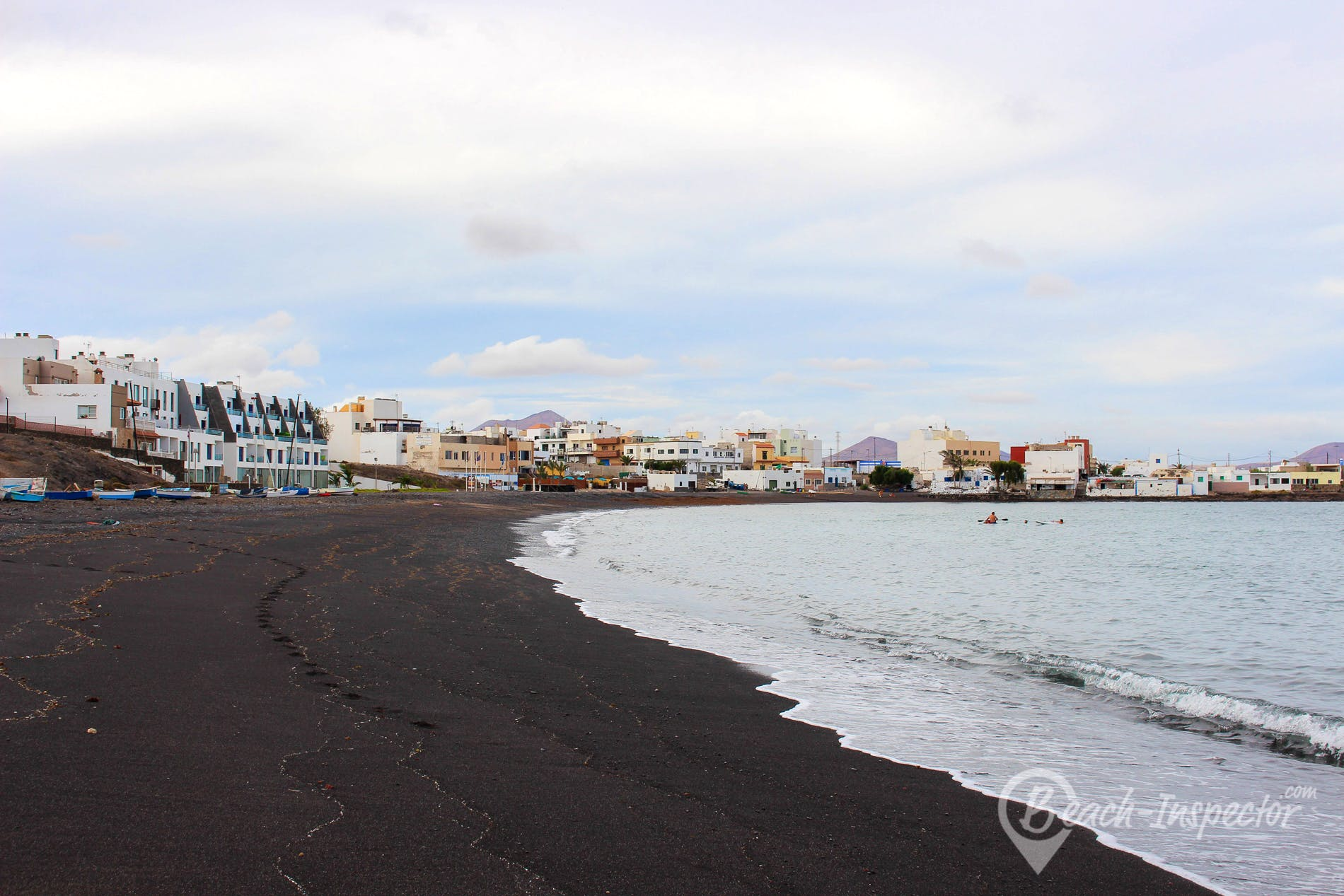 Strand Puerto Lajas, Fuerteventura, Spanien