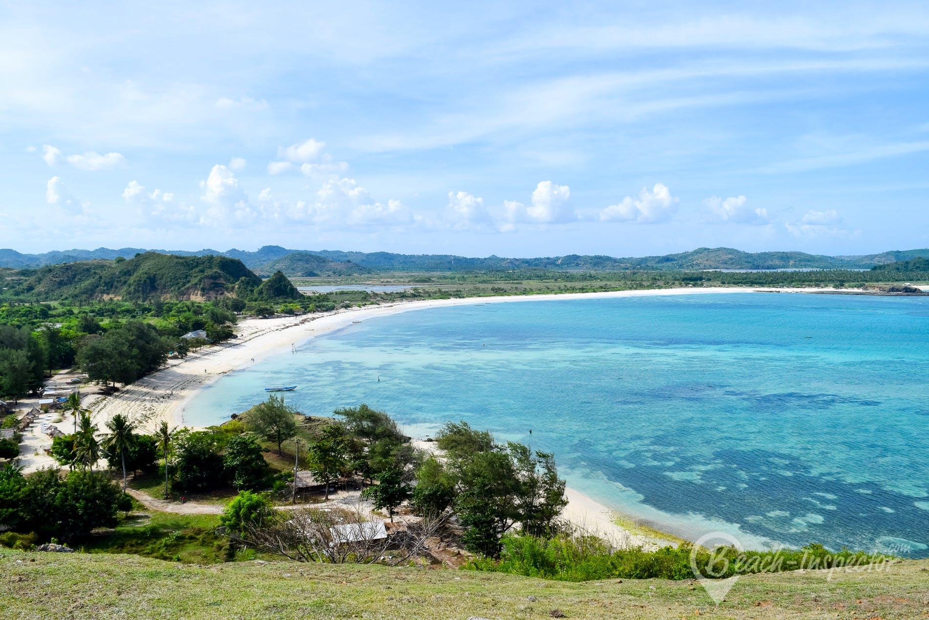 Beach Tanjung Aan Beach, Lombok, Indonesia