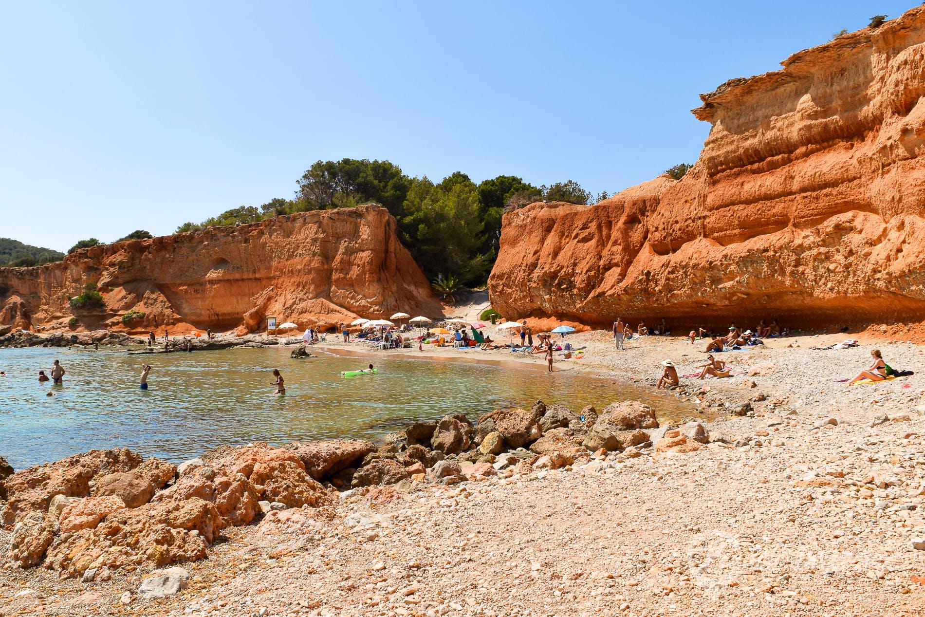 Beach Sa Caleta, Ibiza, Spain