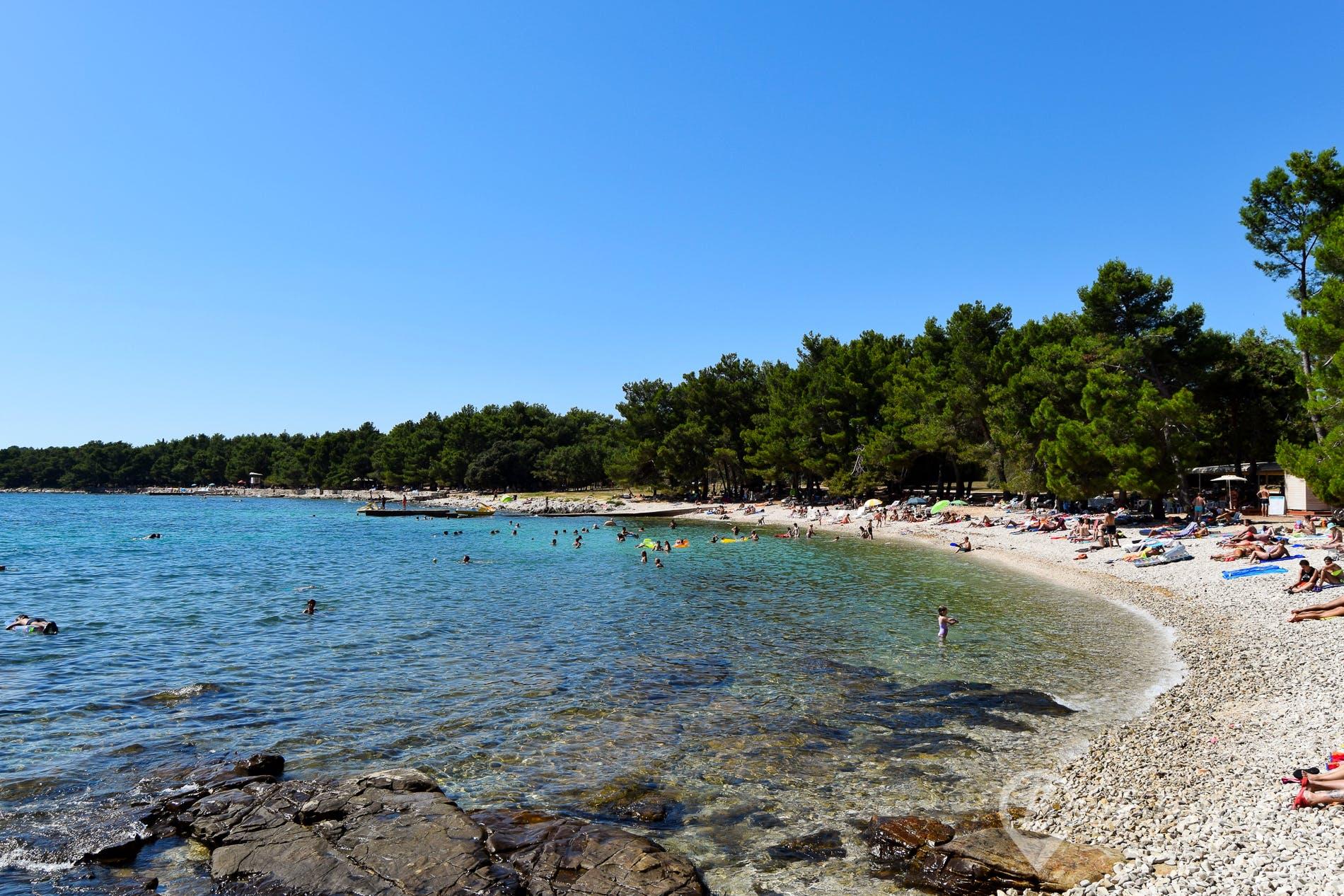 Beach Cuvi, Istria, Croatia