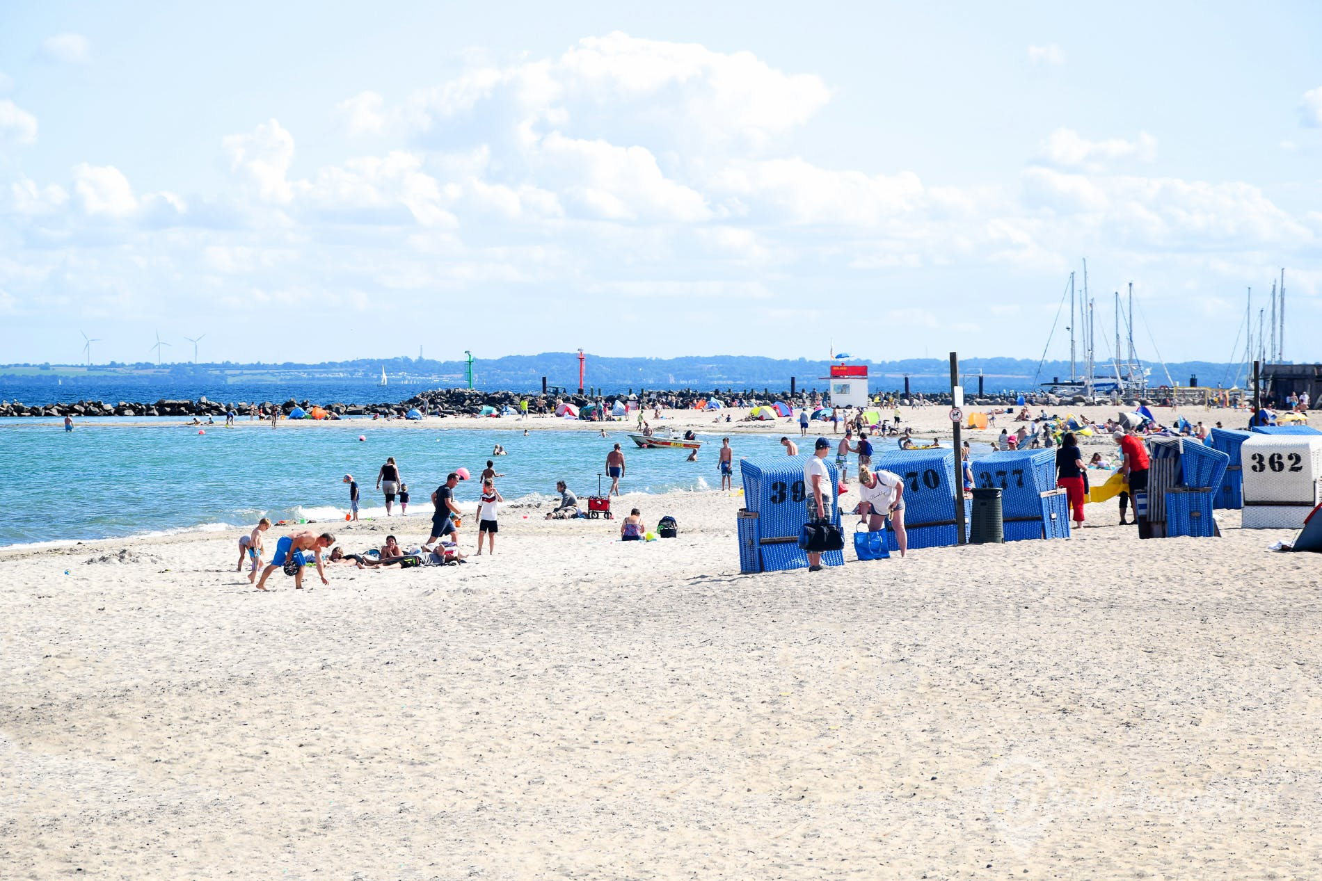 Playa Ostseebad Damp, Eckernförder Bucht, Alemania