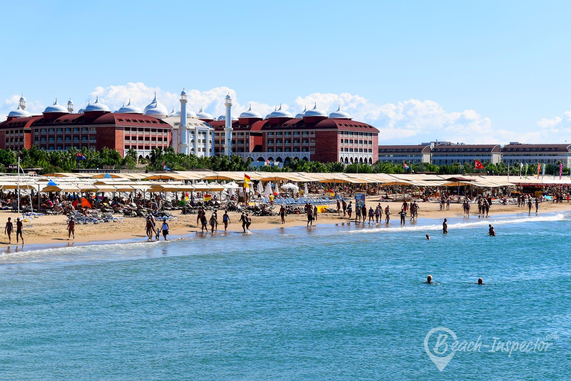 Strand Evrenseki Beach, Türkische Riviera, Türkei