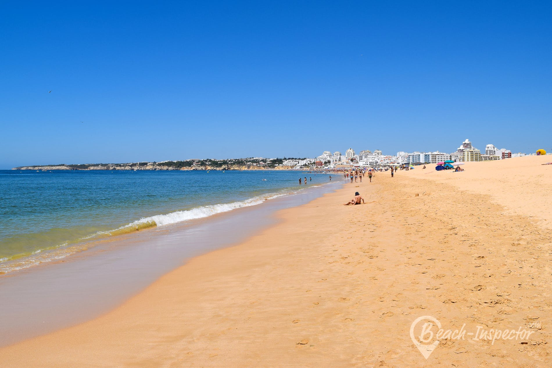 Playa Praia Grande Poente, Algarve, Portugal