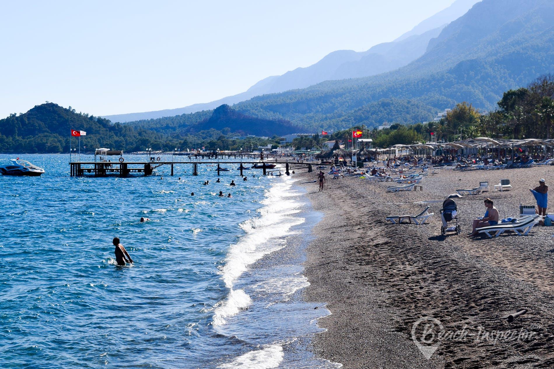 Strand Göynük Beach, Türkische Riviera, Türkei