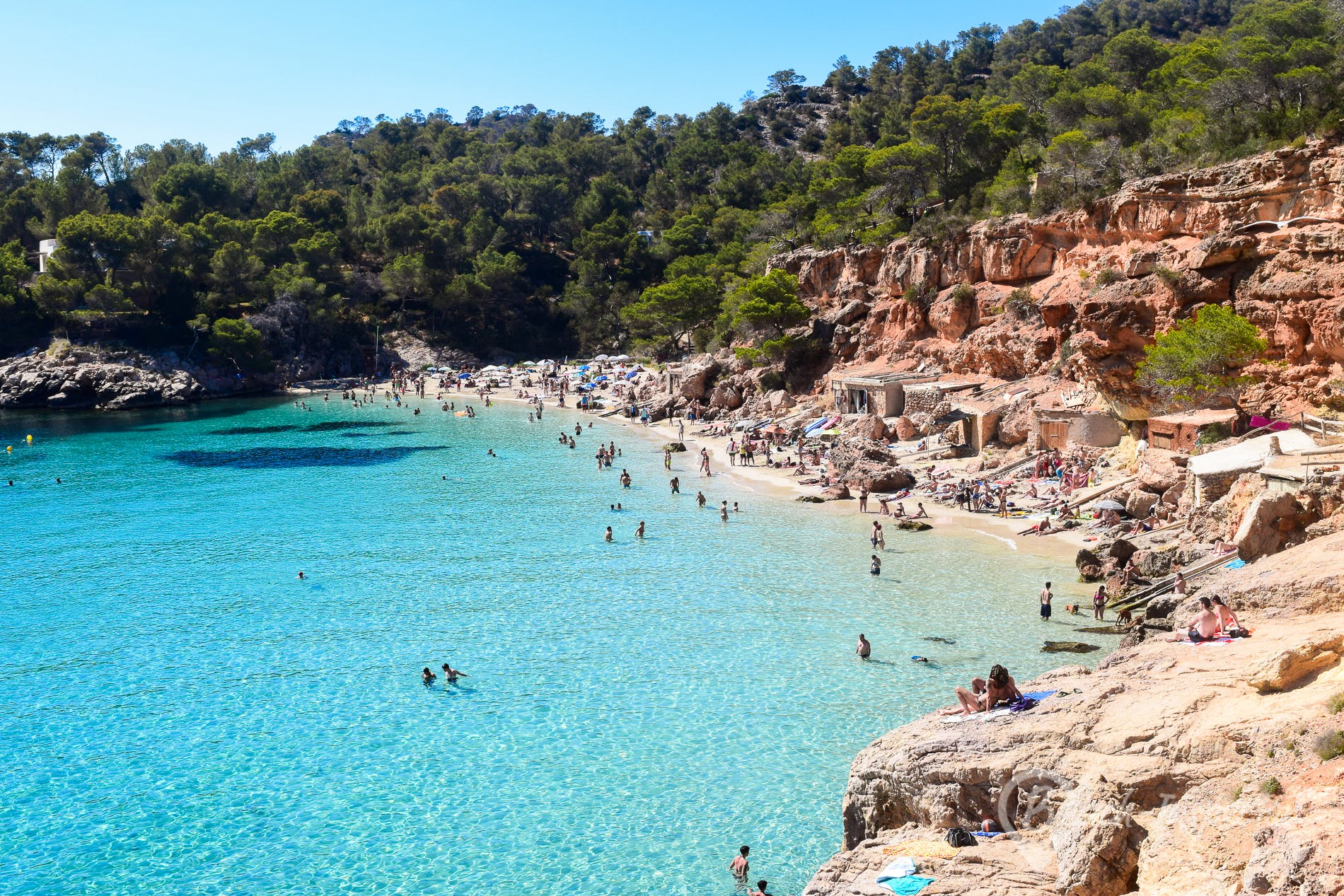 Beach Cala Salada, Ibiza, Spain