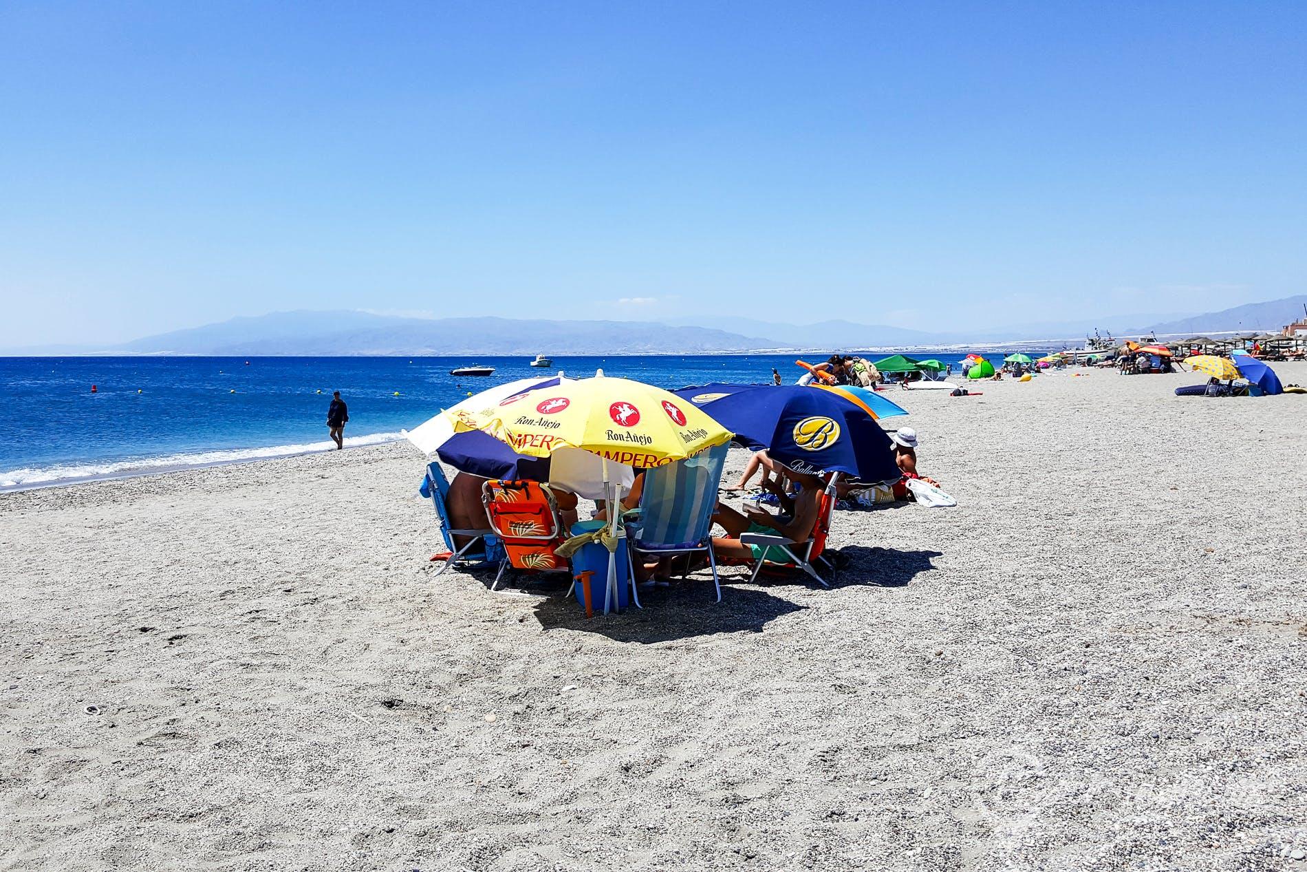 Beach Playa Las Salinas, Costa de Almería, Spain