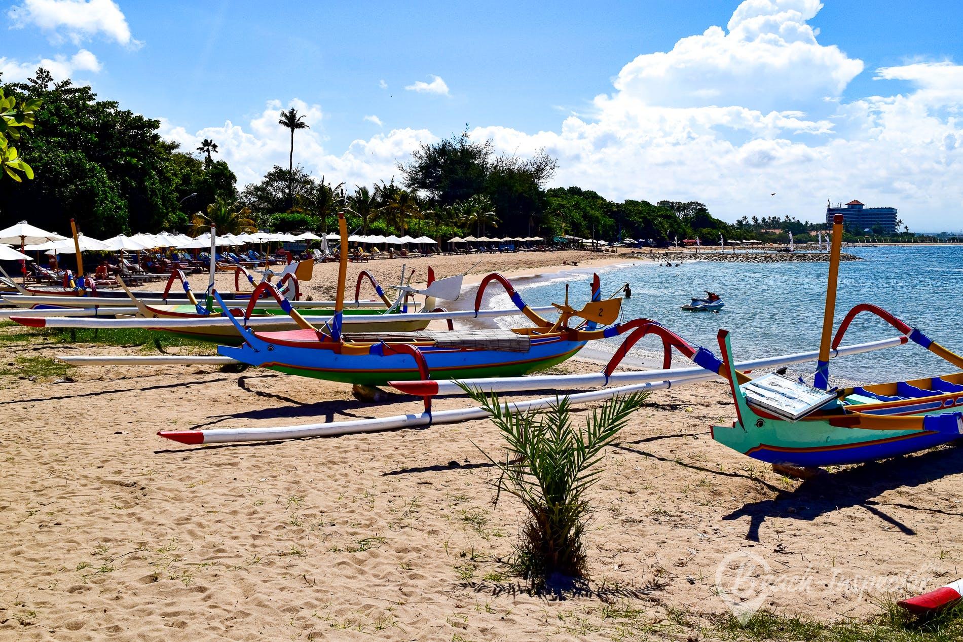 Strand Sanur Beach, Bali, Indonesien