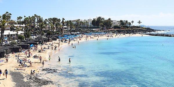Beaches Playa Blanca Lanzarote Map