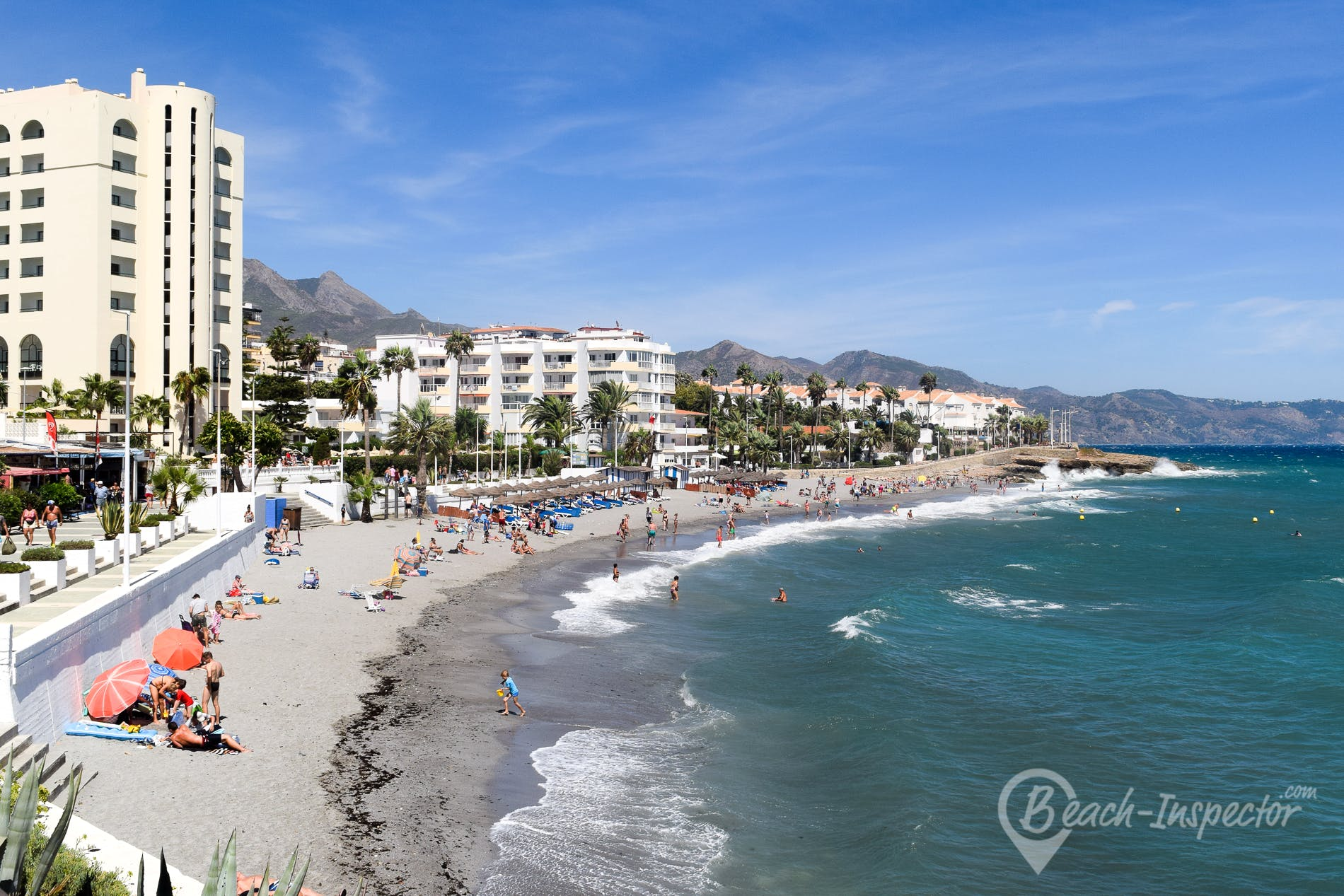 Playa Playa de la Torrecilla, Costa del Sol, España