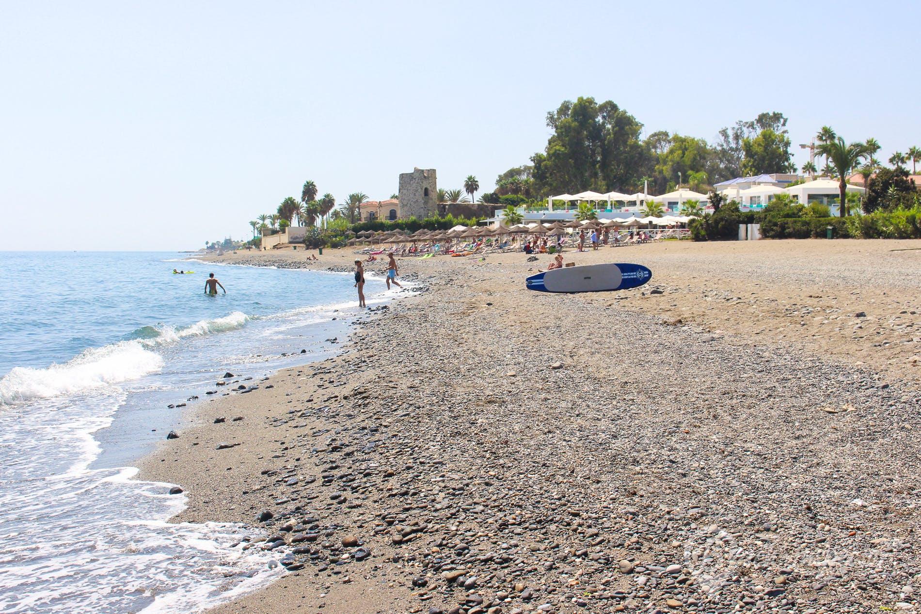 Beach Playa de Lindavista, Costa del Sol, Spain