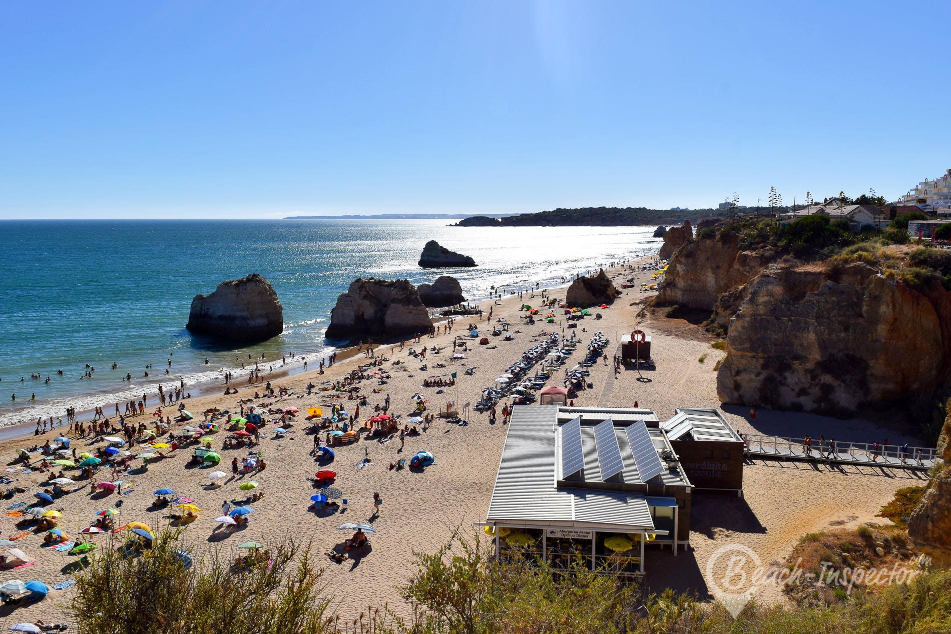 Beach Praia dos três Castelos, Algarve, Portugal