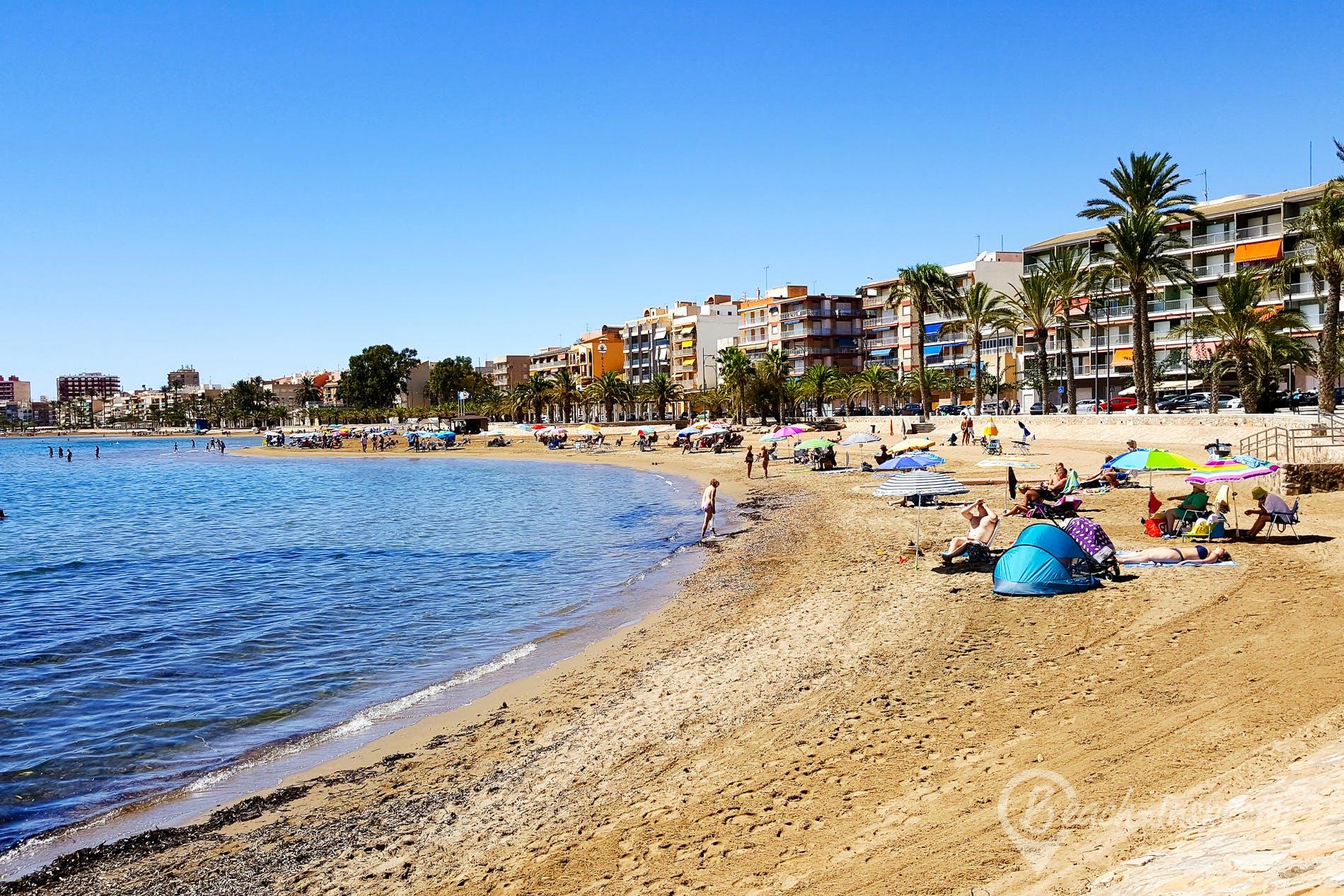 Strand Playa Bahía de Mazarrón, Costa Cálida, Spanien