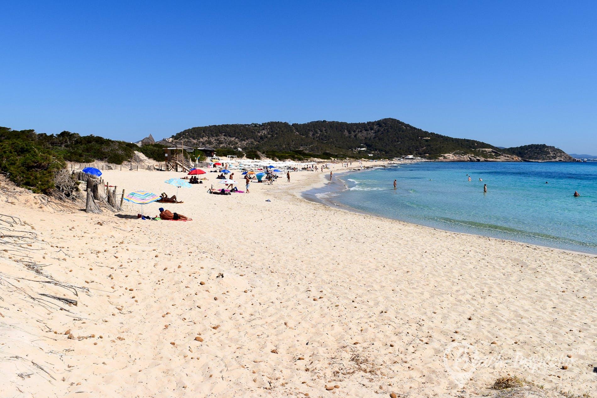 Beach Es Cavallet, Ibiza, Spain