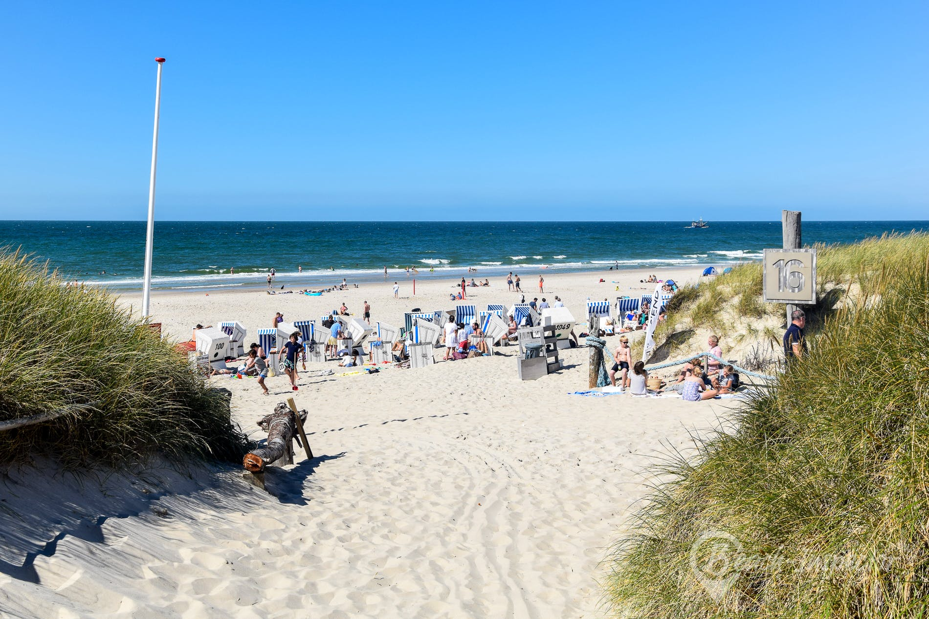 Beach Buhne 16, Sylt, Germany
