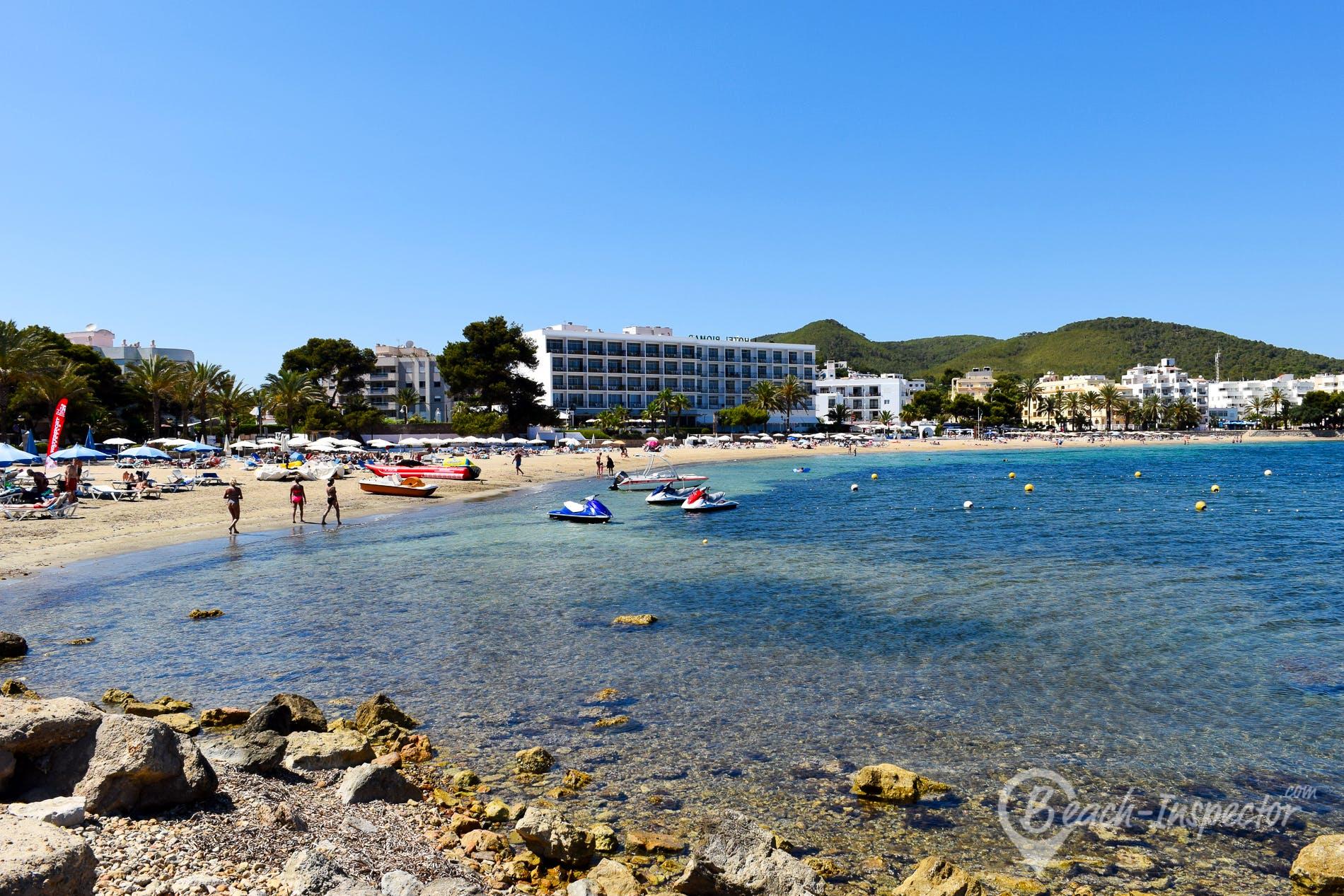 Beach Playa del Rio, Ibiza, Spain