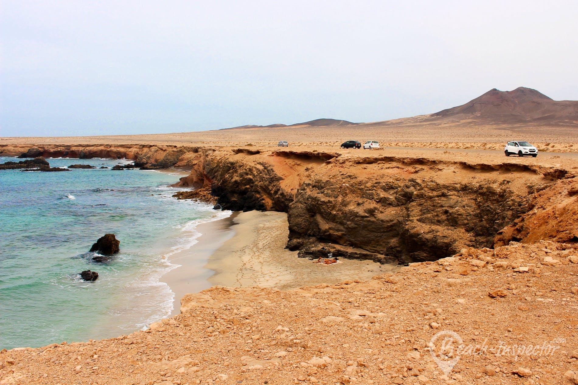 Strand Playa de los Ojos, Fuerteventura, Spanien