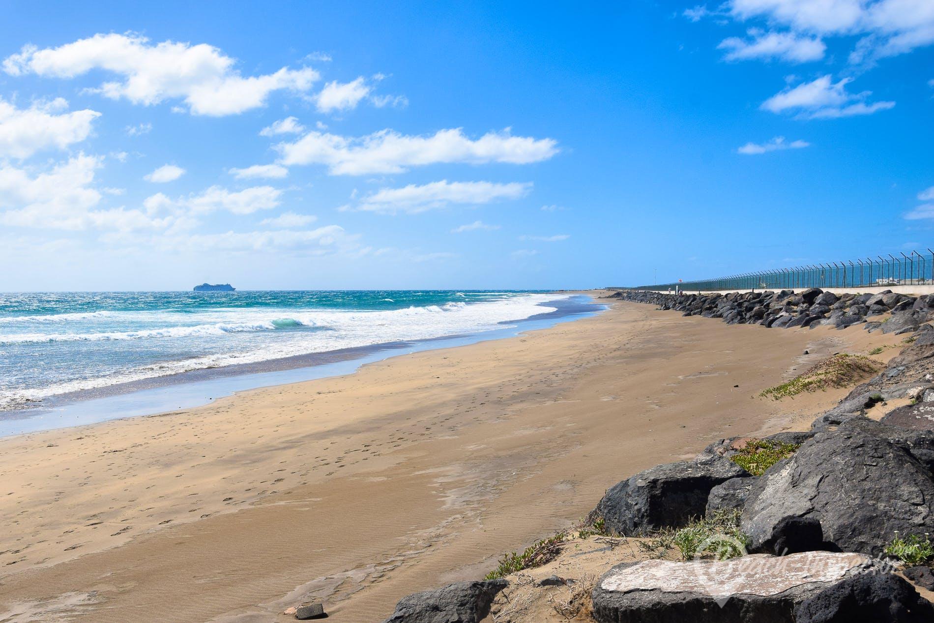 Strand Playa de Guacimeta, Lanzarote, Spanien