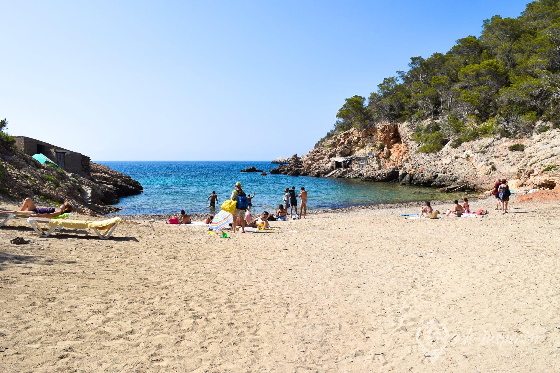 Strand Playa des Xuclar, Ibiza, Spanien