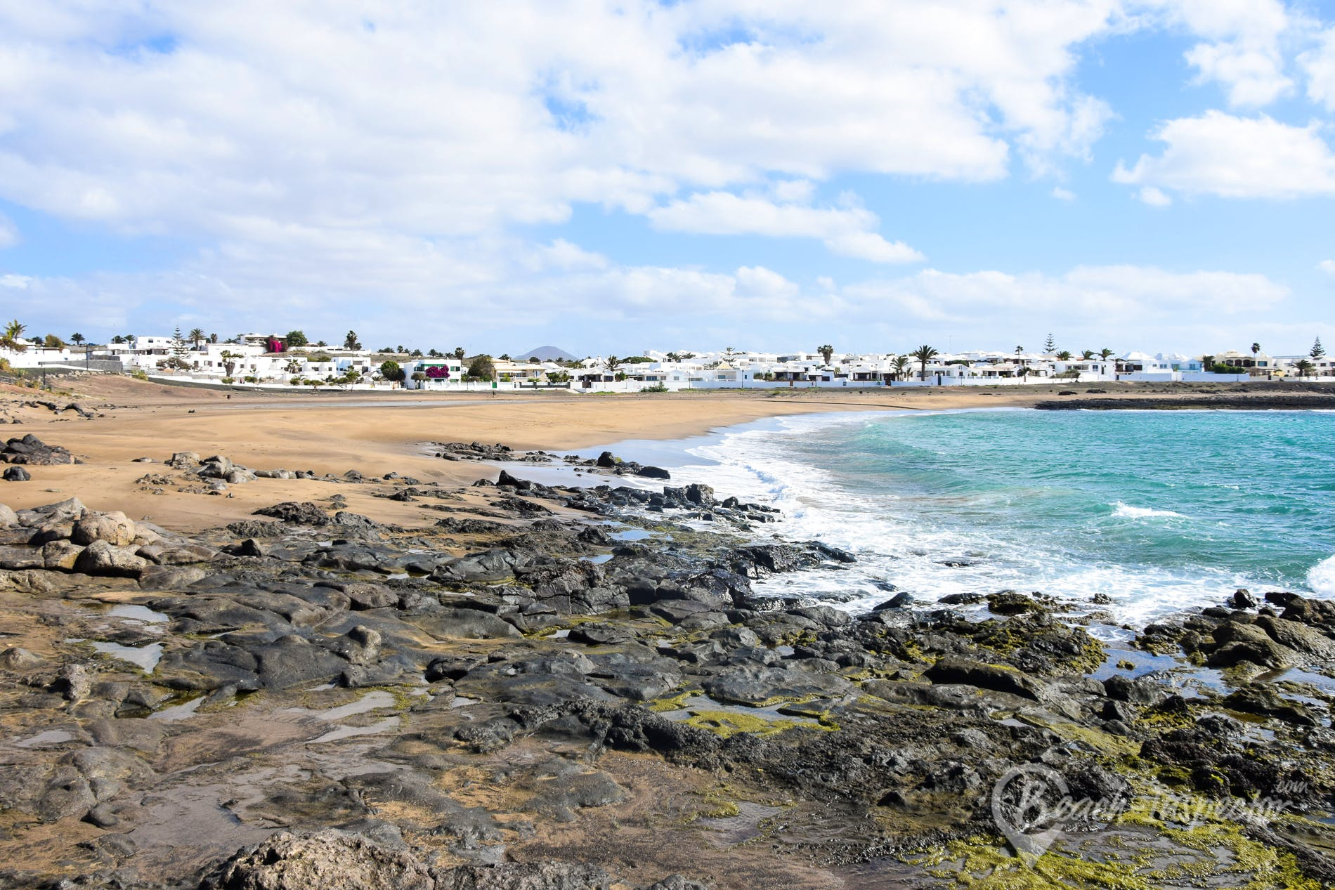 Strand Playa de la Concha, Lanzarote, Spanien
