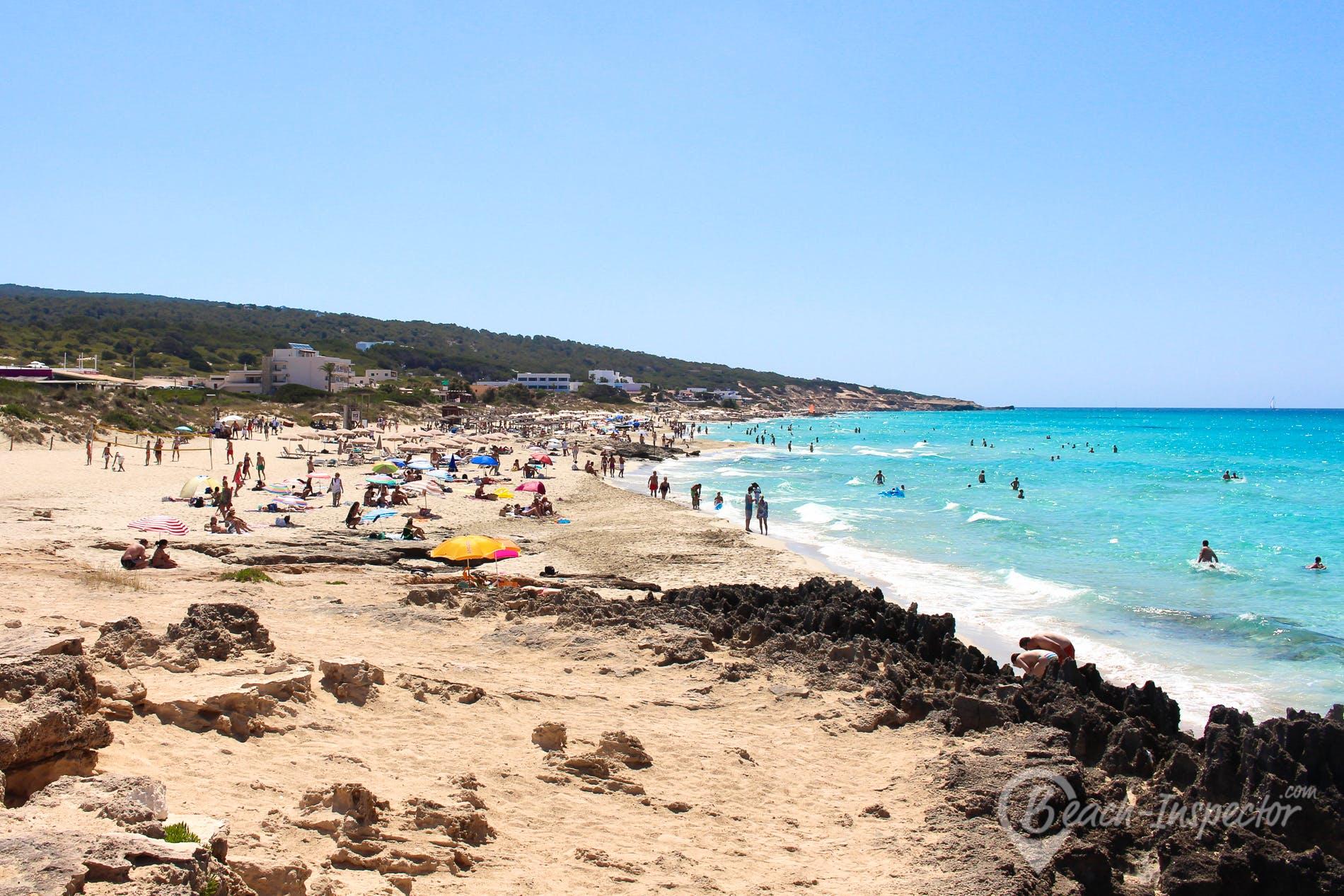 Strand Es Arenals, Formentera, Spanien
