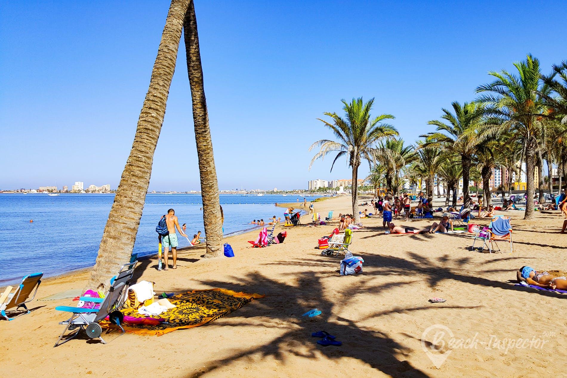 Strand Playa Honda, Costa Cálida, Spanien