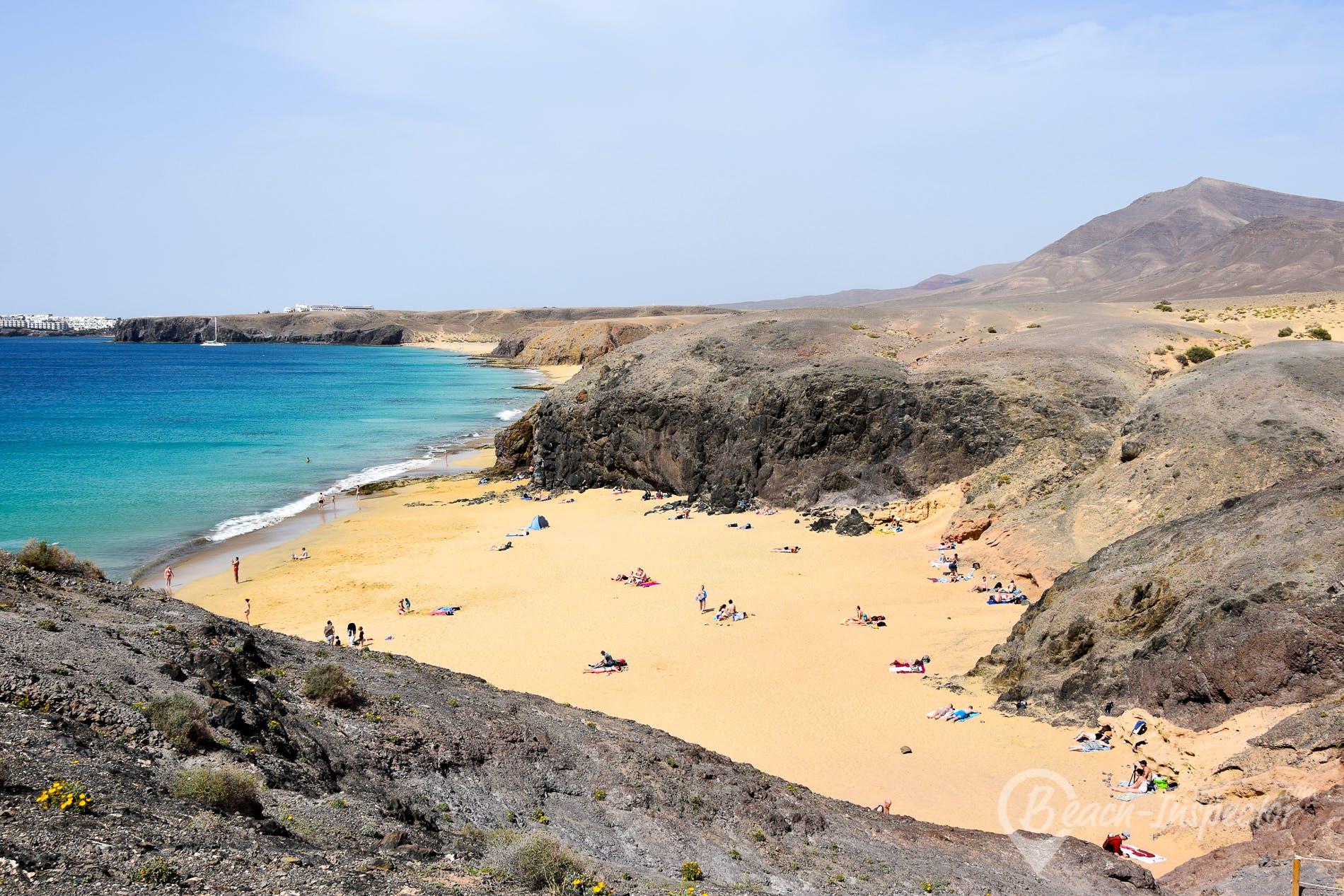 Beach La Cera, Lanzarote, Spain