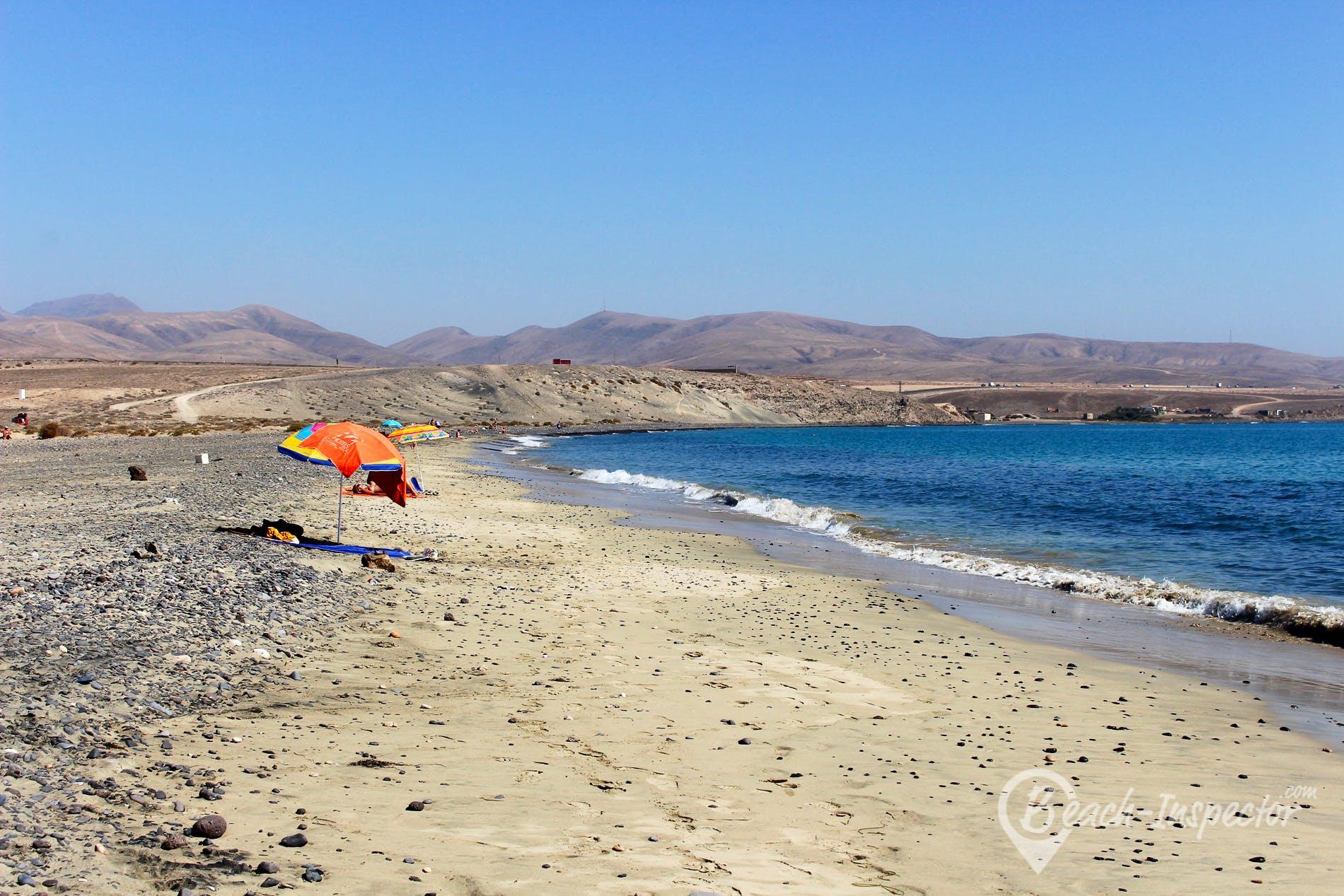 Strand El Rancho, Fuerteventura, Spanien