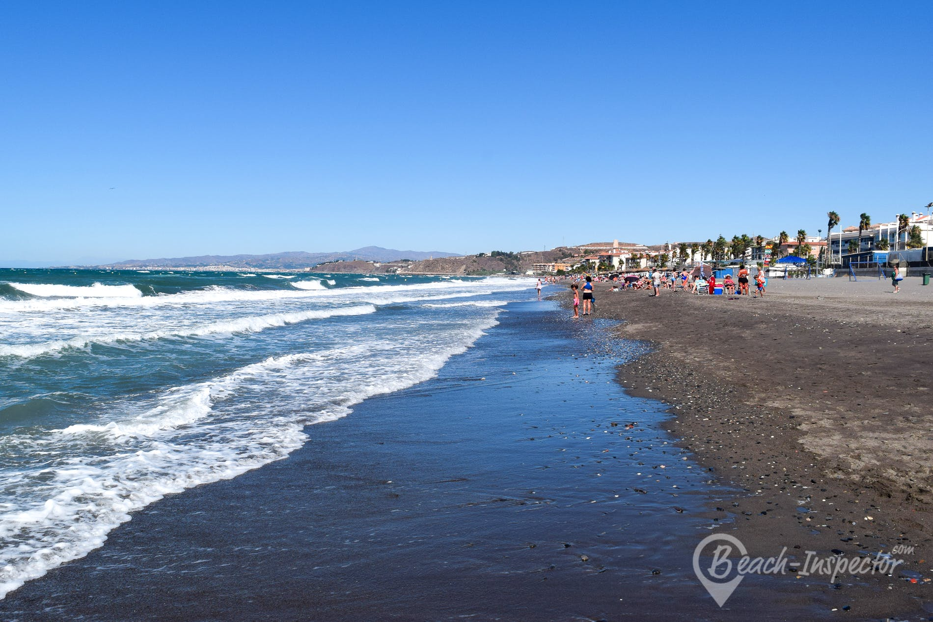 Beach Playa del Morche, Costa del Sol, Spain