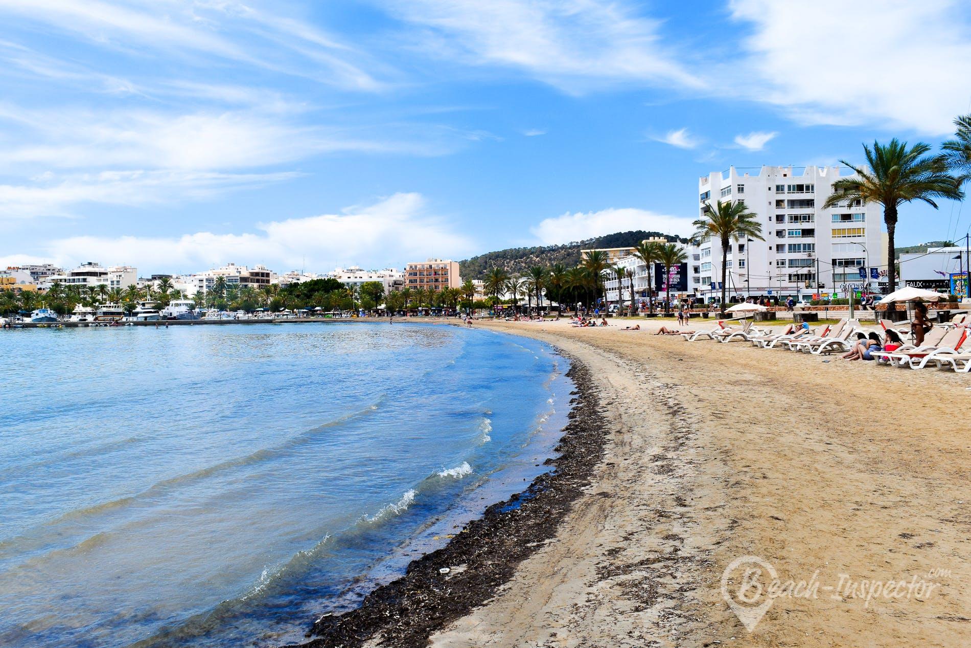 Beach Playa de S'Arenal, Ibiza, Spain