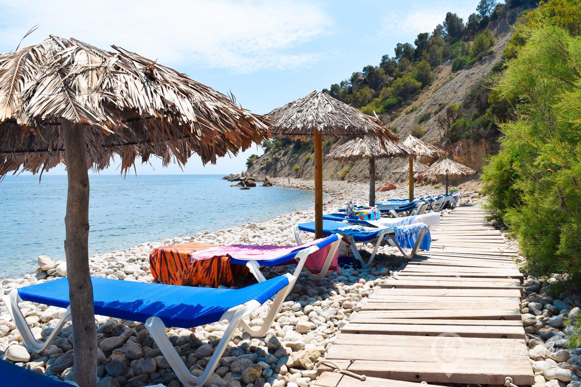 Playa Ses Boques, Ibiza, España
