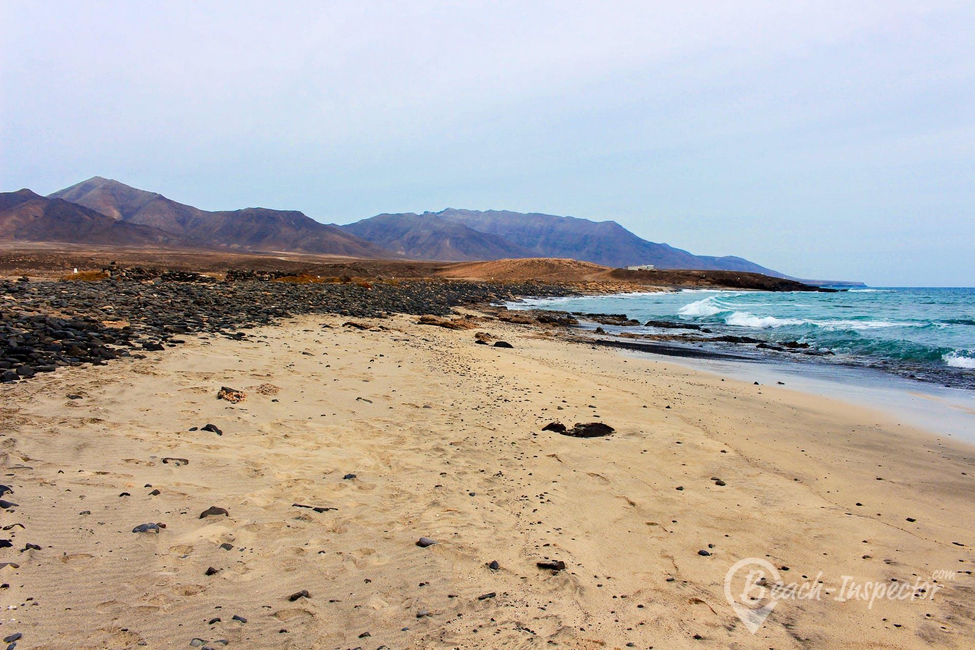 Strand Punta Salina, Fuerteventura, Spanien