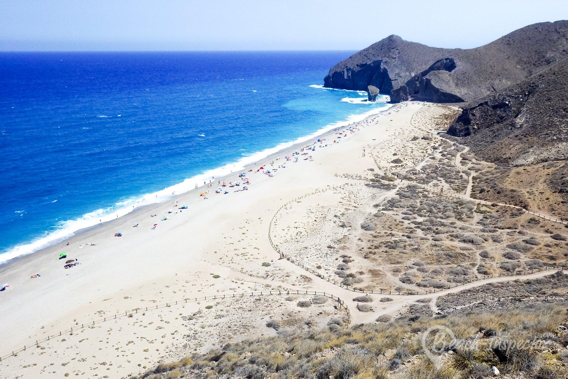 Beach Playa de los Muertos, Costa de Almería, Spain