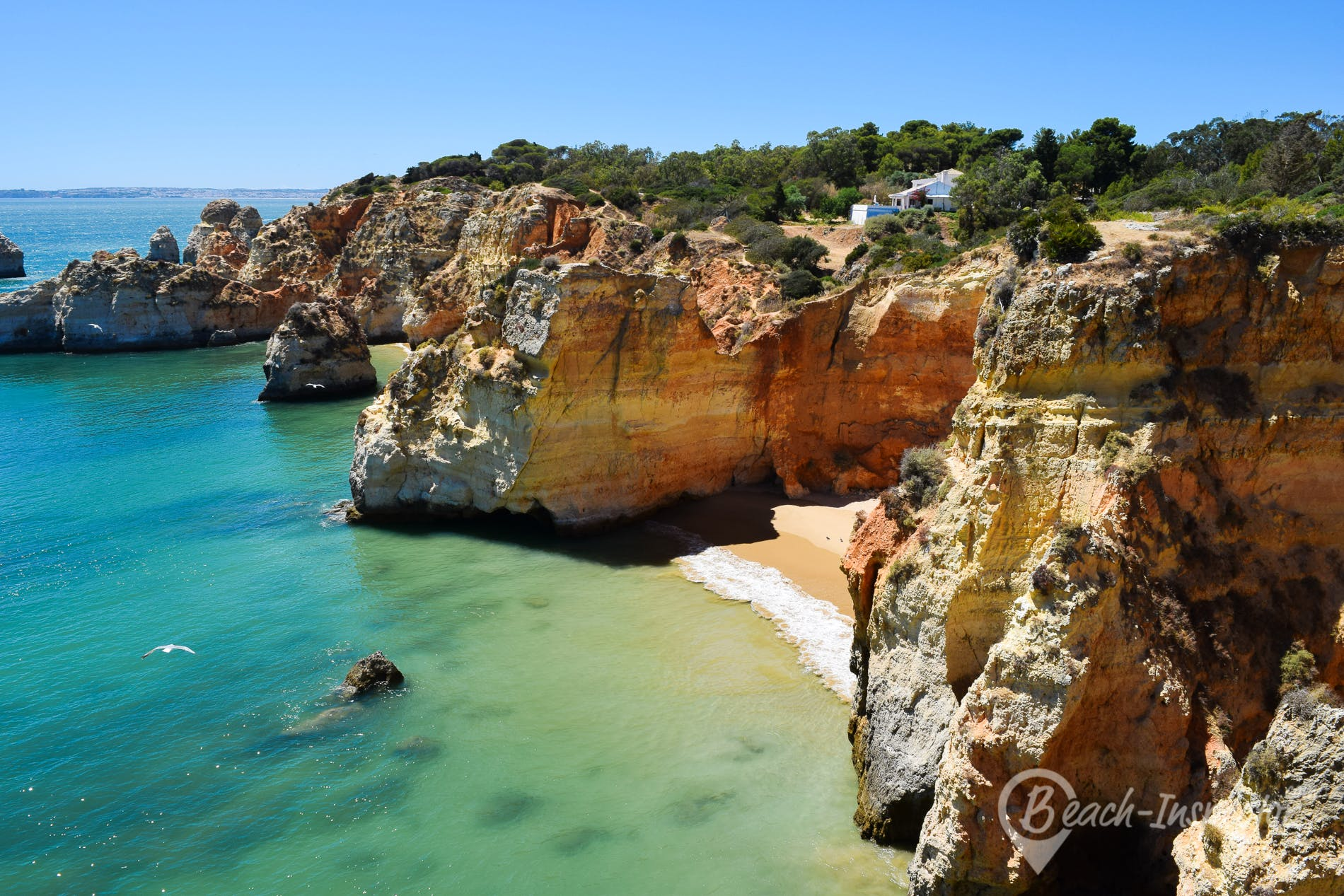 Beach Praia de João de Arens, Algarve, Portugal