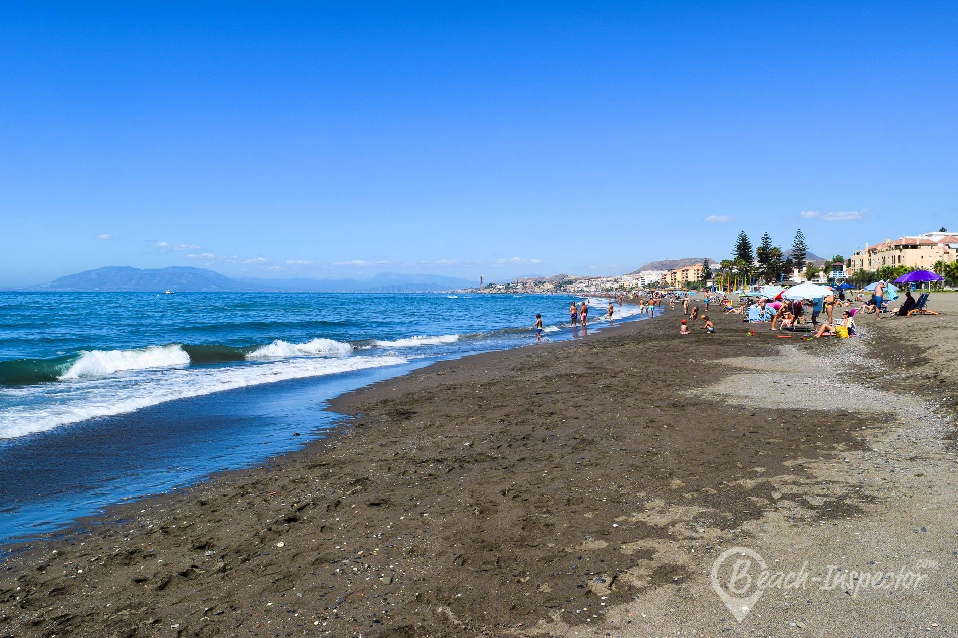 Beach Playa Torre de Benagalbón, Costa del Sol, Spain
