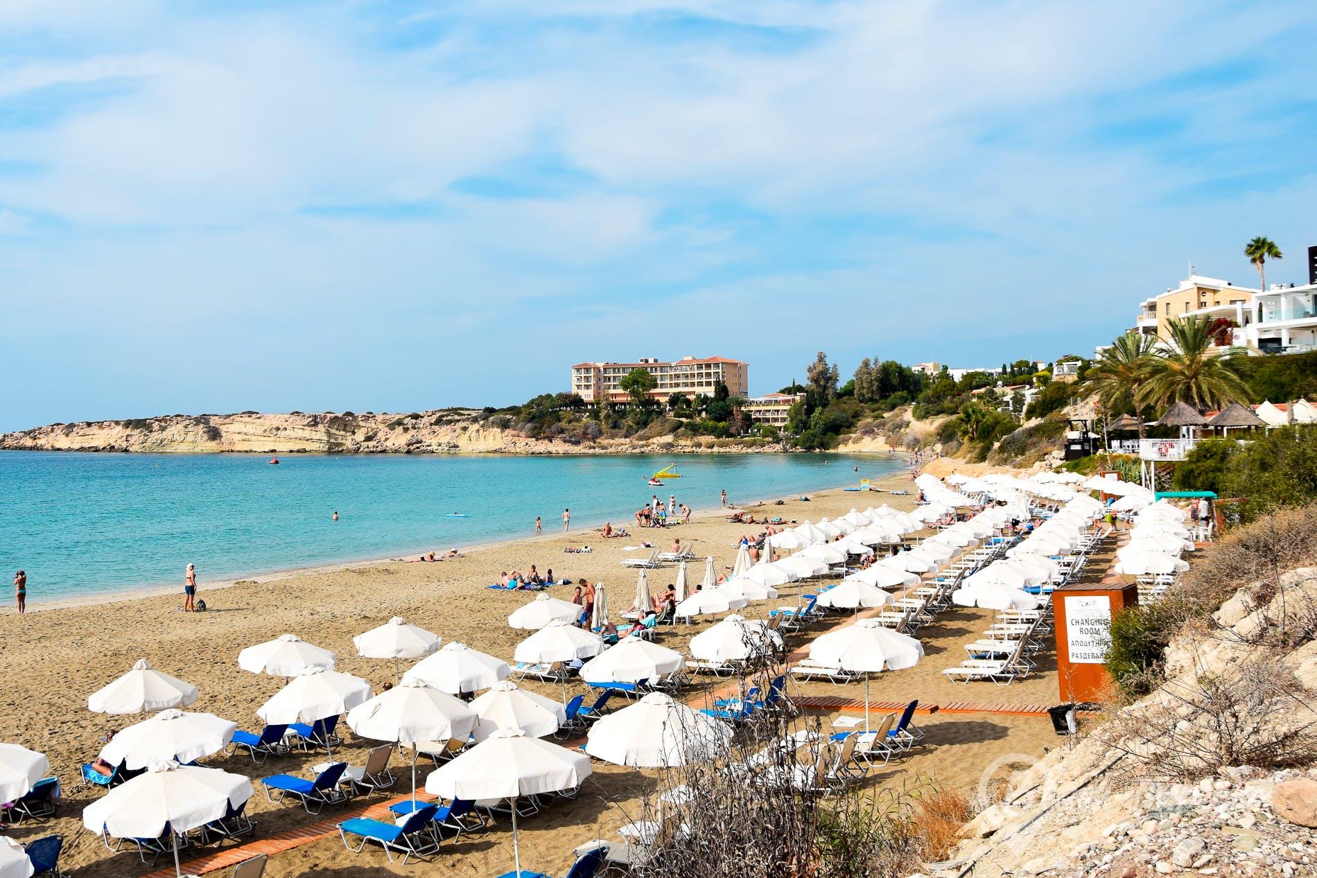Strand Coral Bay, Zypern, Zypern