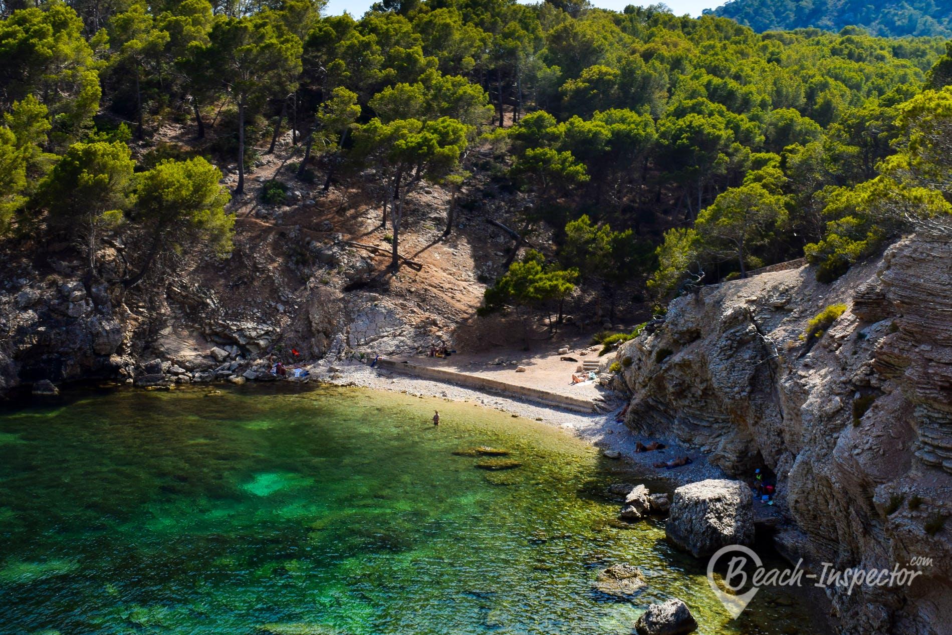 Playa Caló des Monjo, Mallorca, España