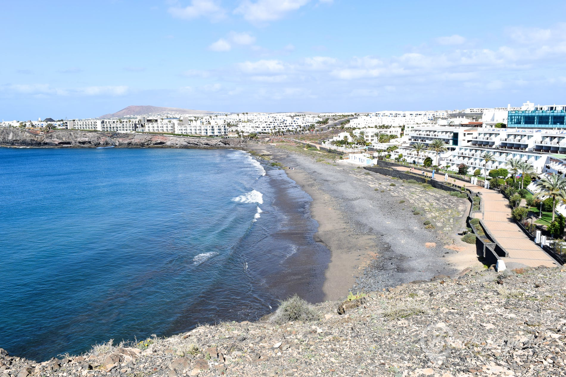 Beach Playa del Afre, Lanzarote, Spain