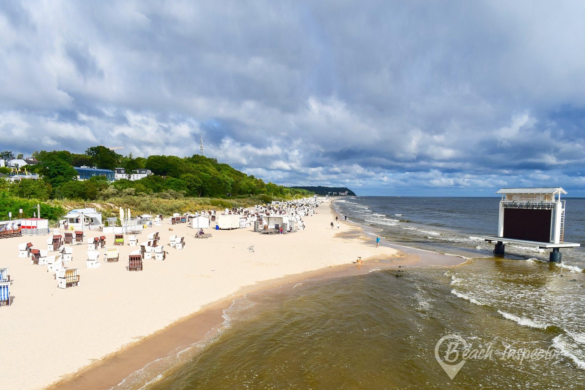 Beach Seebad Heringsdorf, Usedom, Germany
