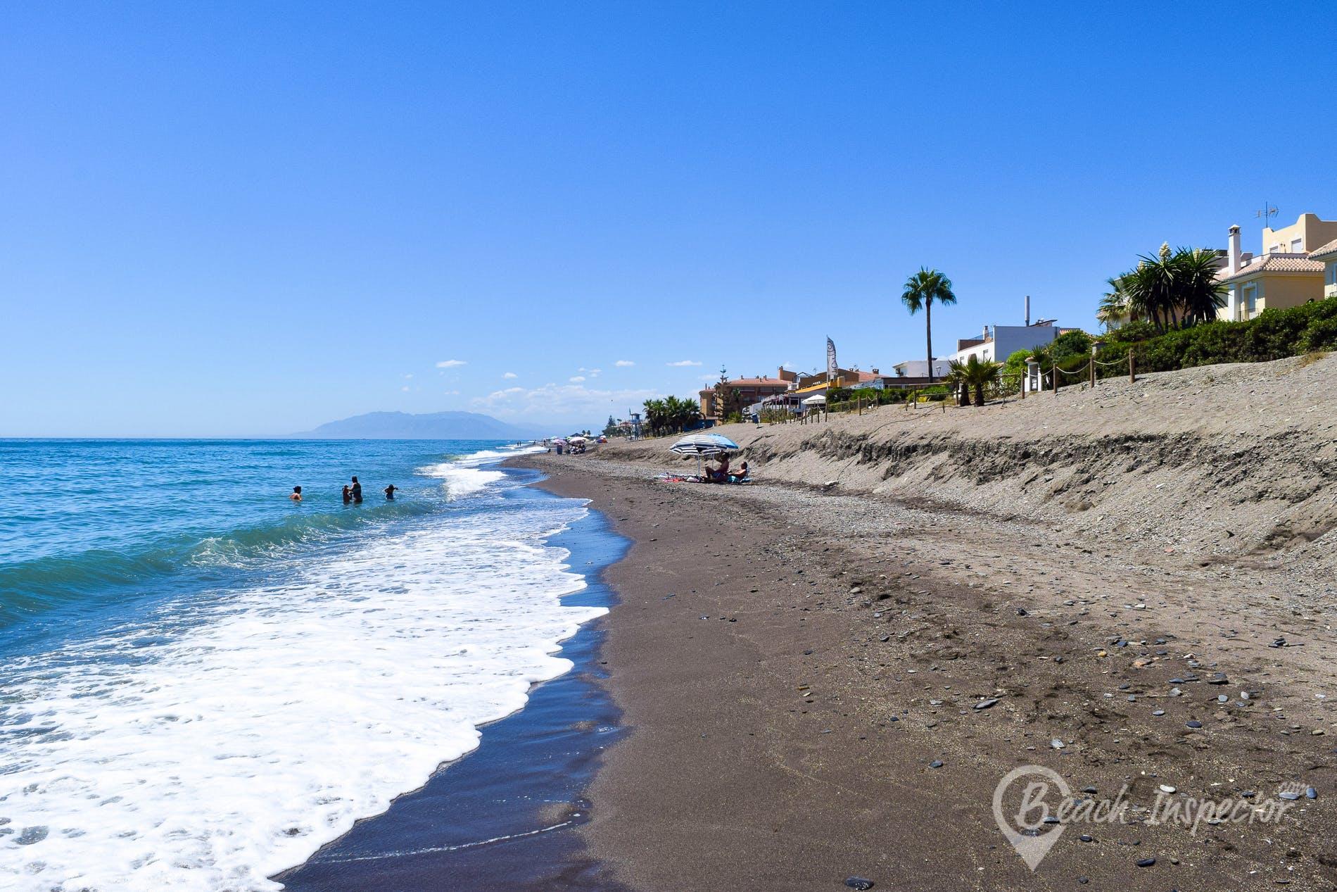 Strand Playa de los Rubios, Costa del Sol, Spanien